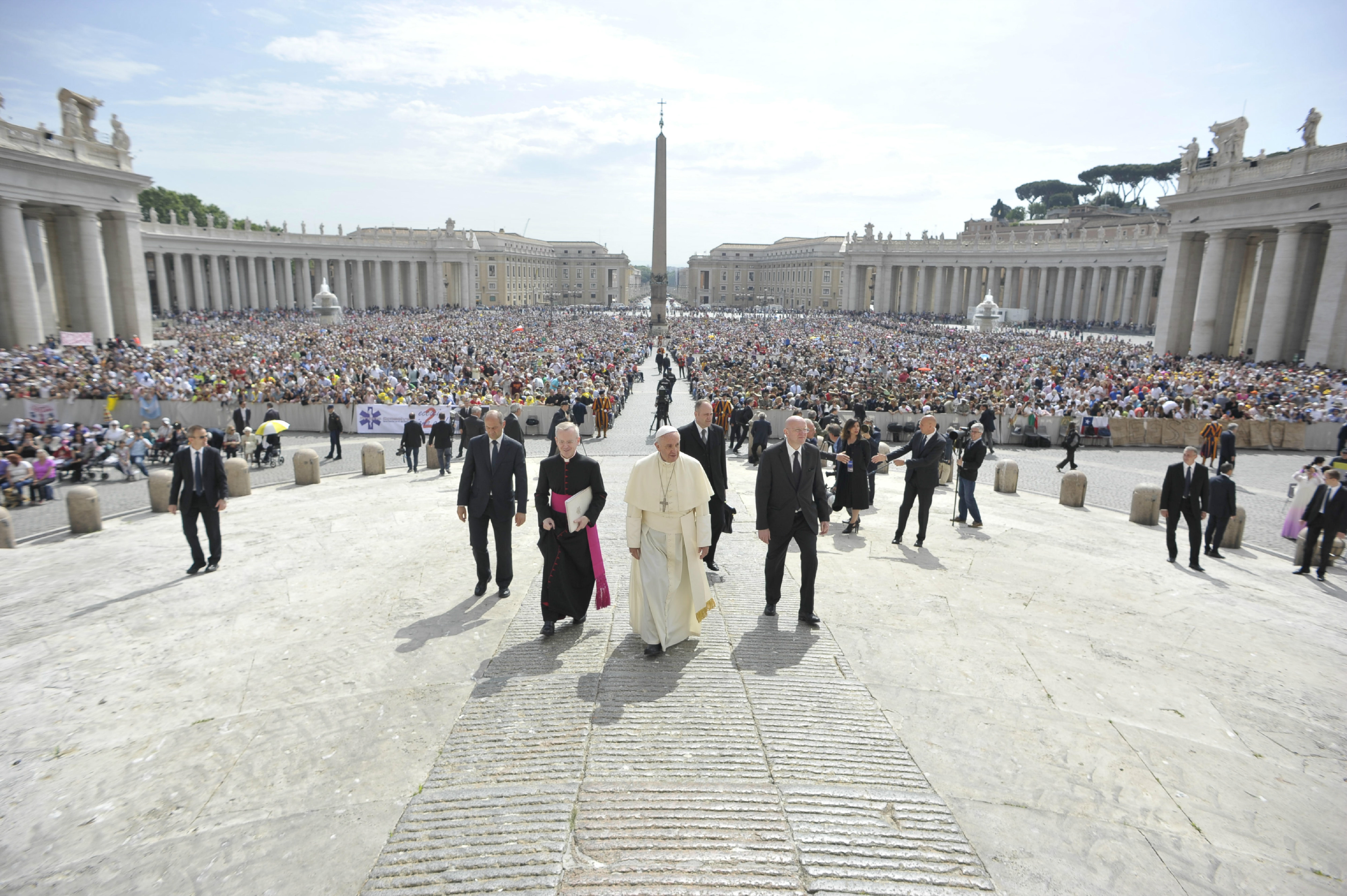 Pope Francis during the General Audience of Wednesday 20th of May 2015