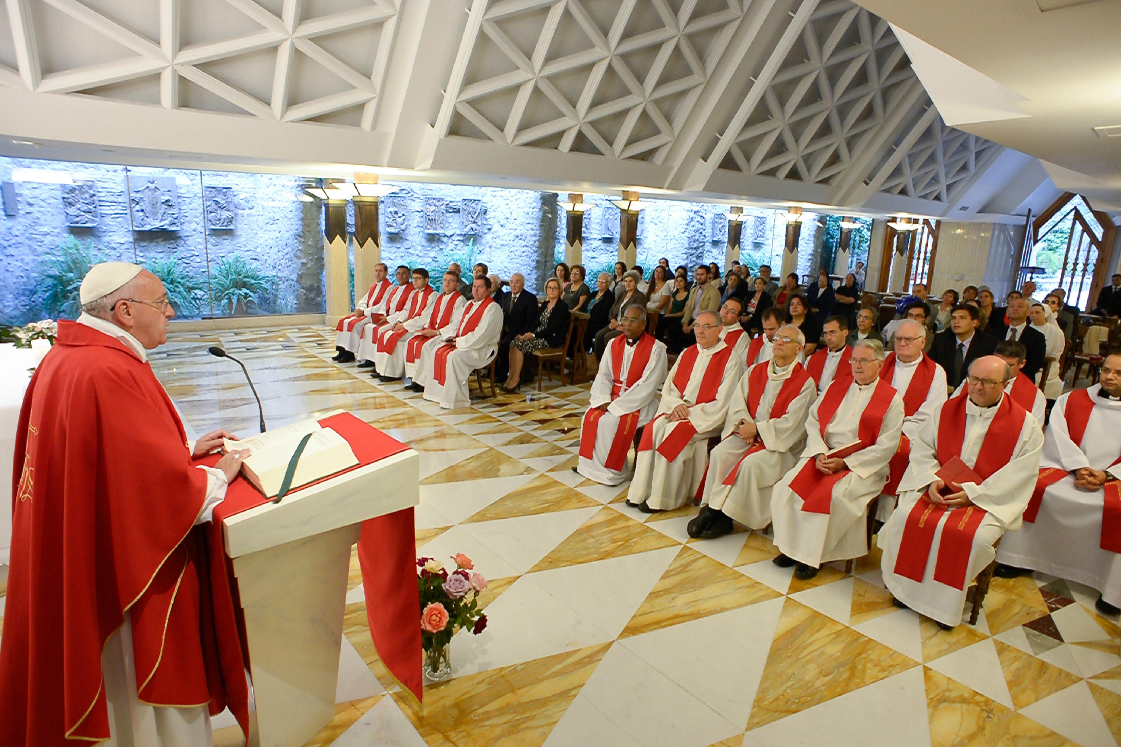 Pope Francis celebrating Mass at Santa Marta - June 11th 2015