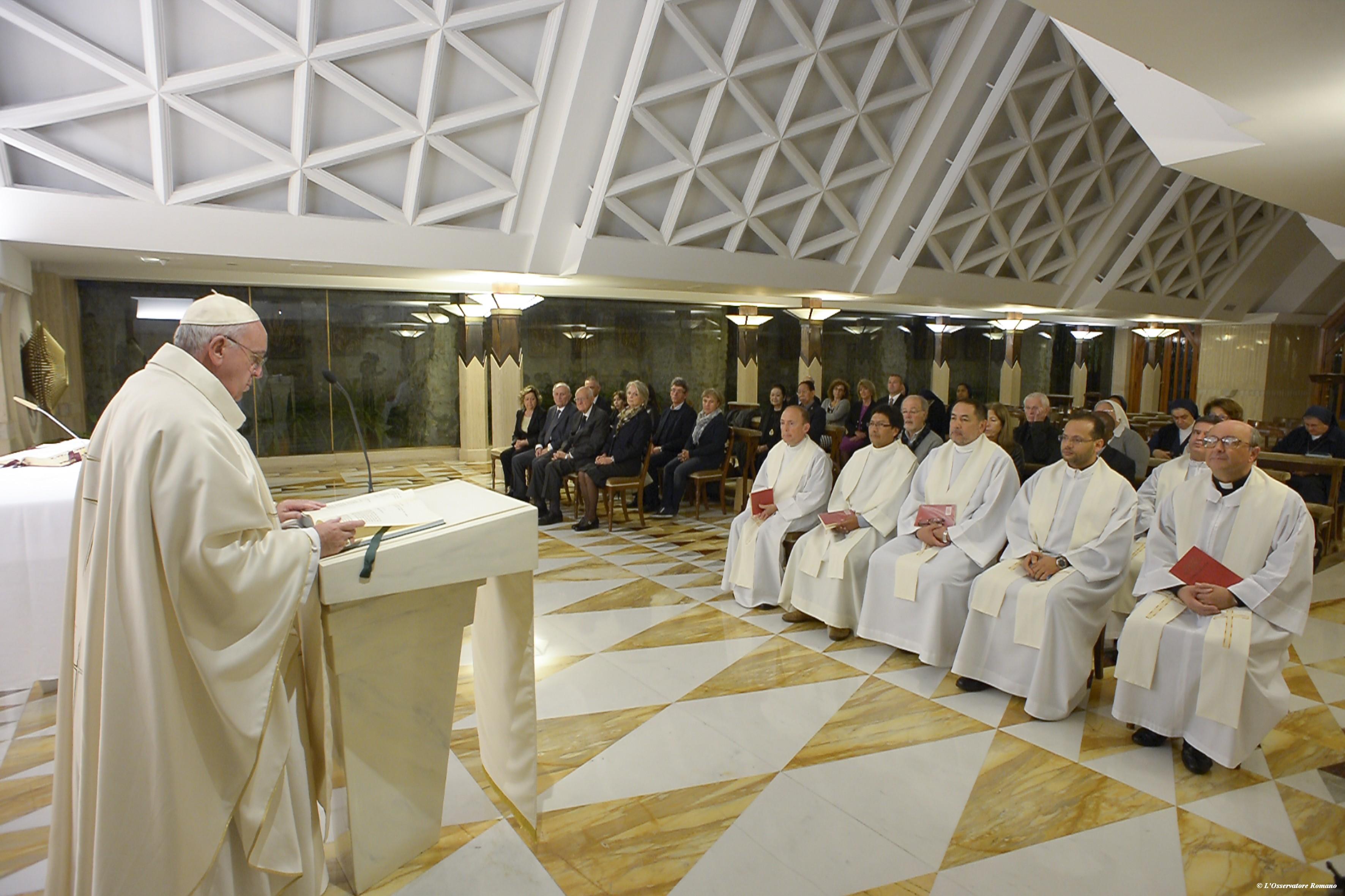 Le pape François à Sainte-Marthe