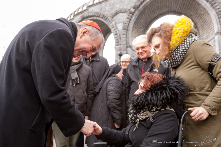 Le card. Parolin à Lourdes, Journée du malade © Sanctuaire ND de Lourdes