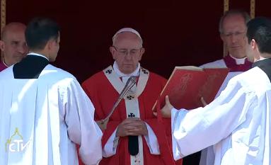 Messe de Pentecôte, 4 juin 2017, capture CTV