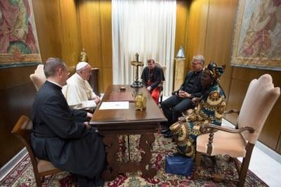 Agnes Abuom, Olav Fykse Tveit et le card. Kurt Koch reçus par le pape © L'Osservatore Romano