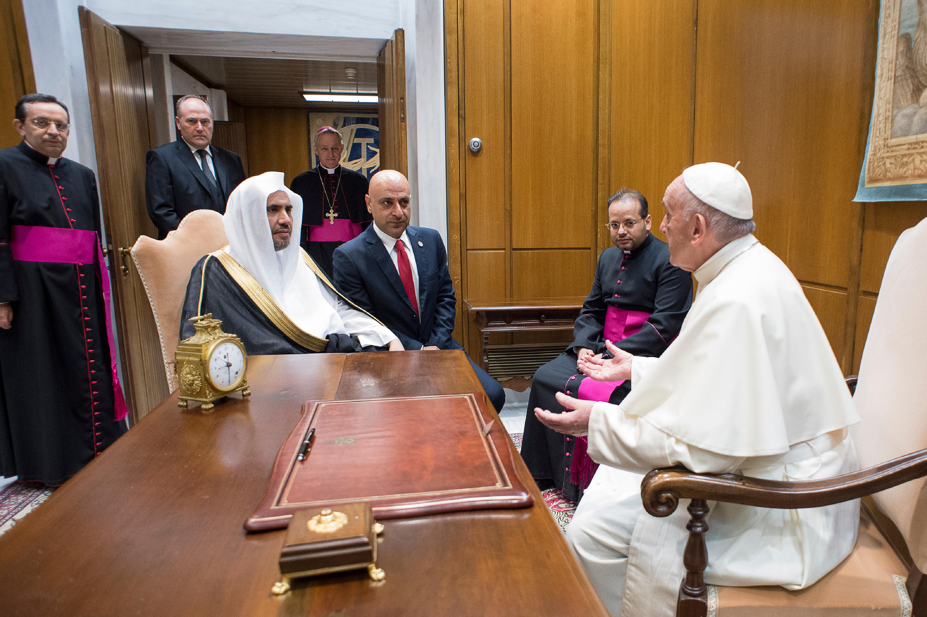 Muhammad al-Issa, Ligue islamique mondiale, 20/09/2017 © L'Osservatore Romano