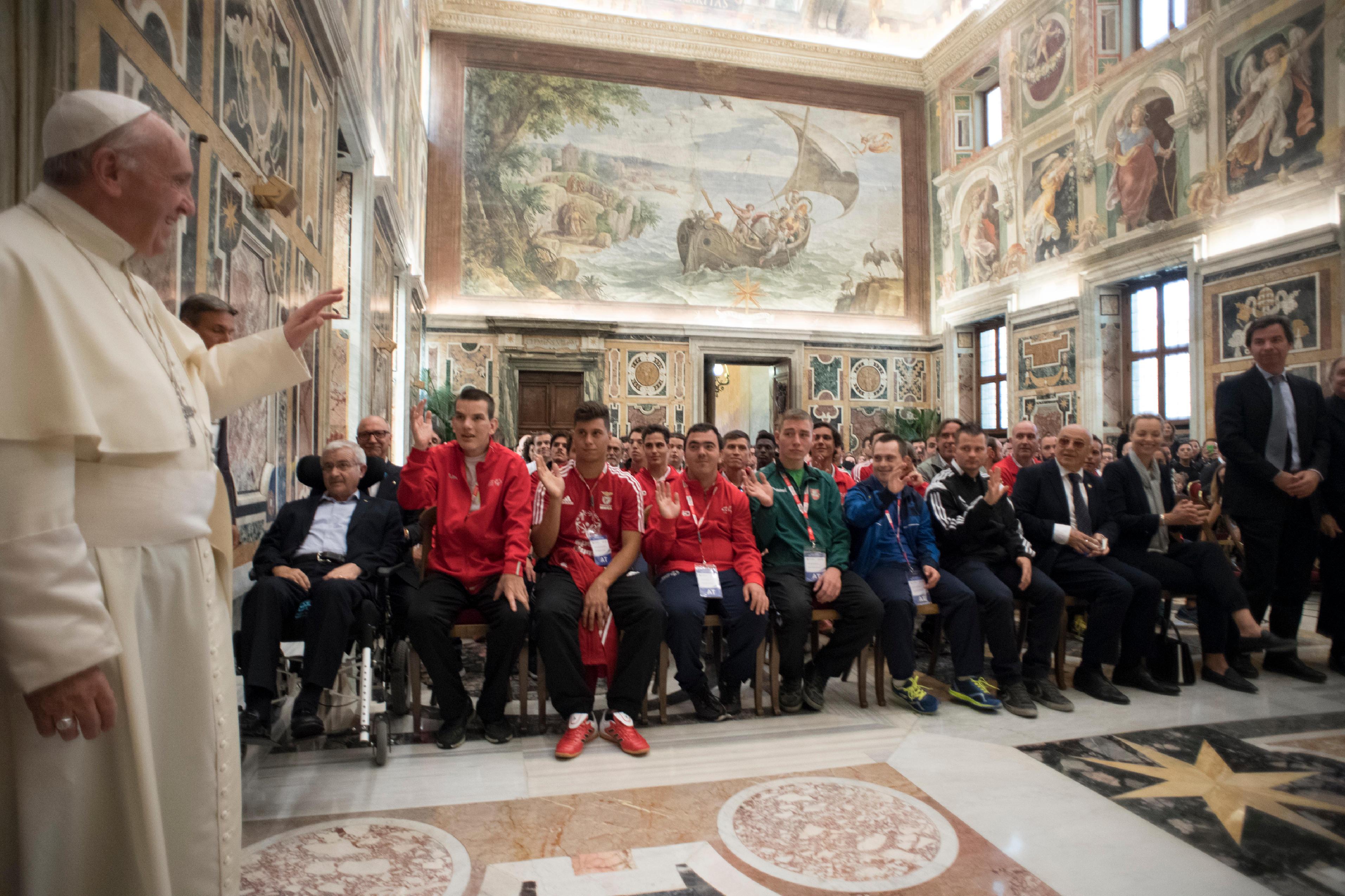 Audience au Special Olympics © L'Osservatore Romano