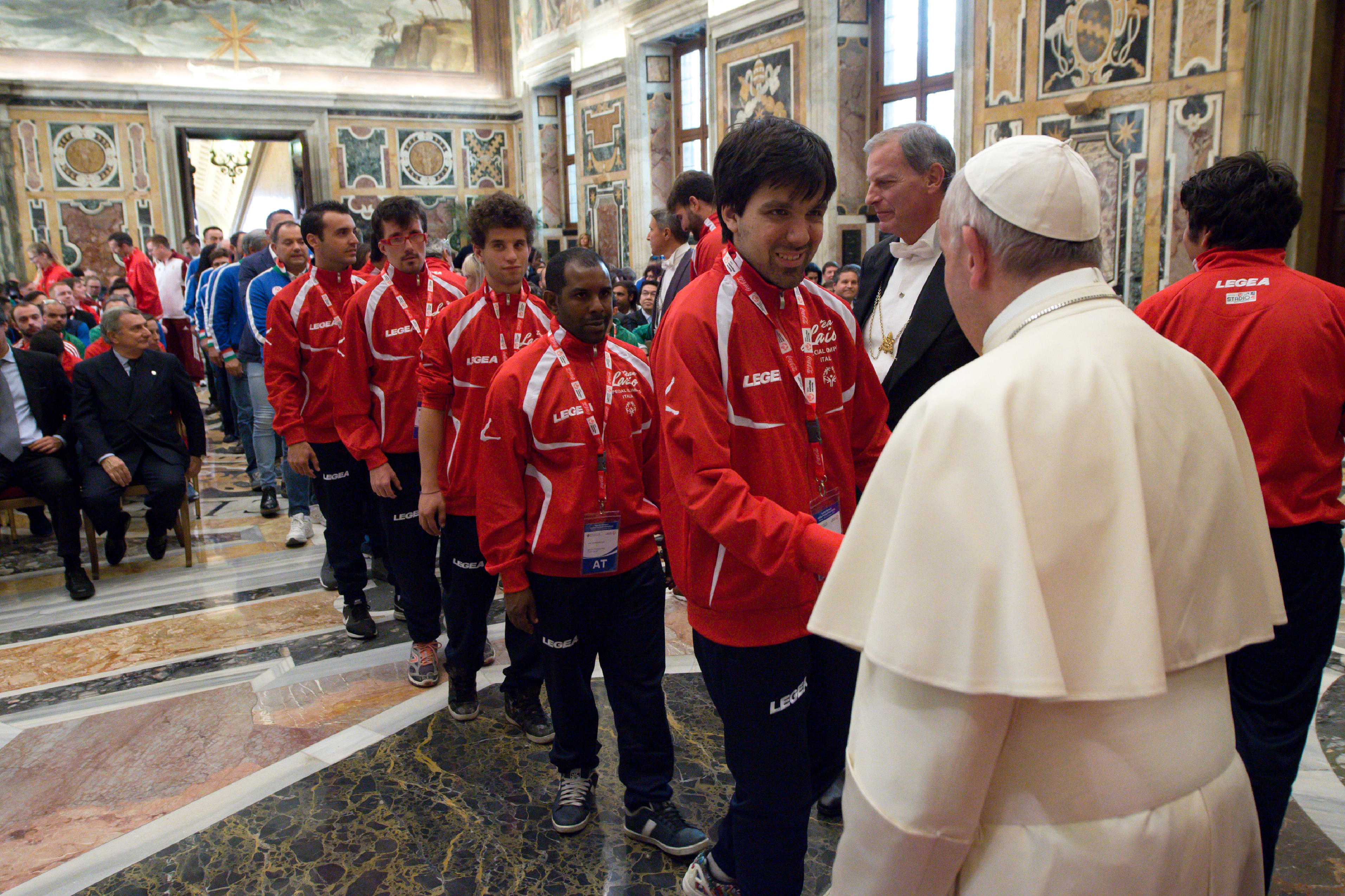 Audience au Special Olympics © L'Osservatore Romano
