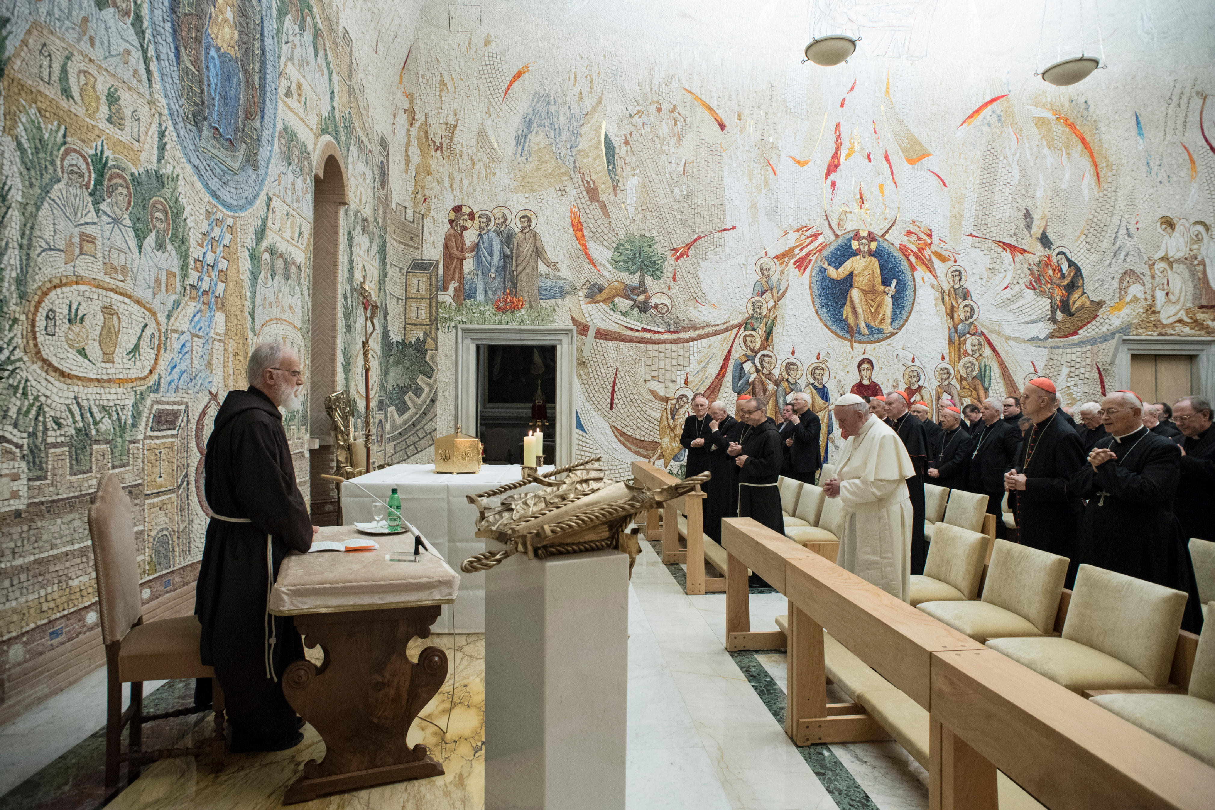 Prédication du p. Cantalamessa, Avent 2017 © L'Osservatore Romano