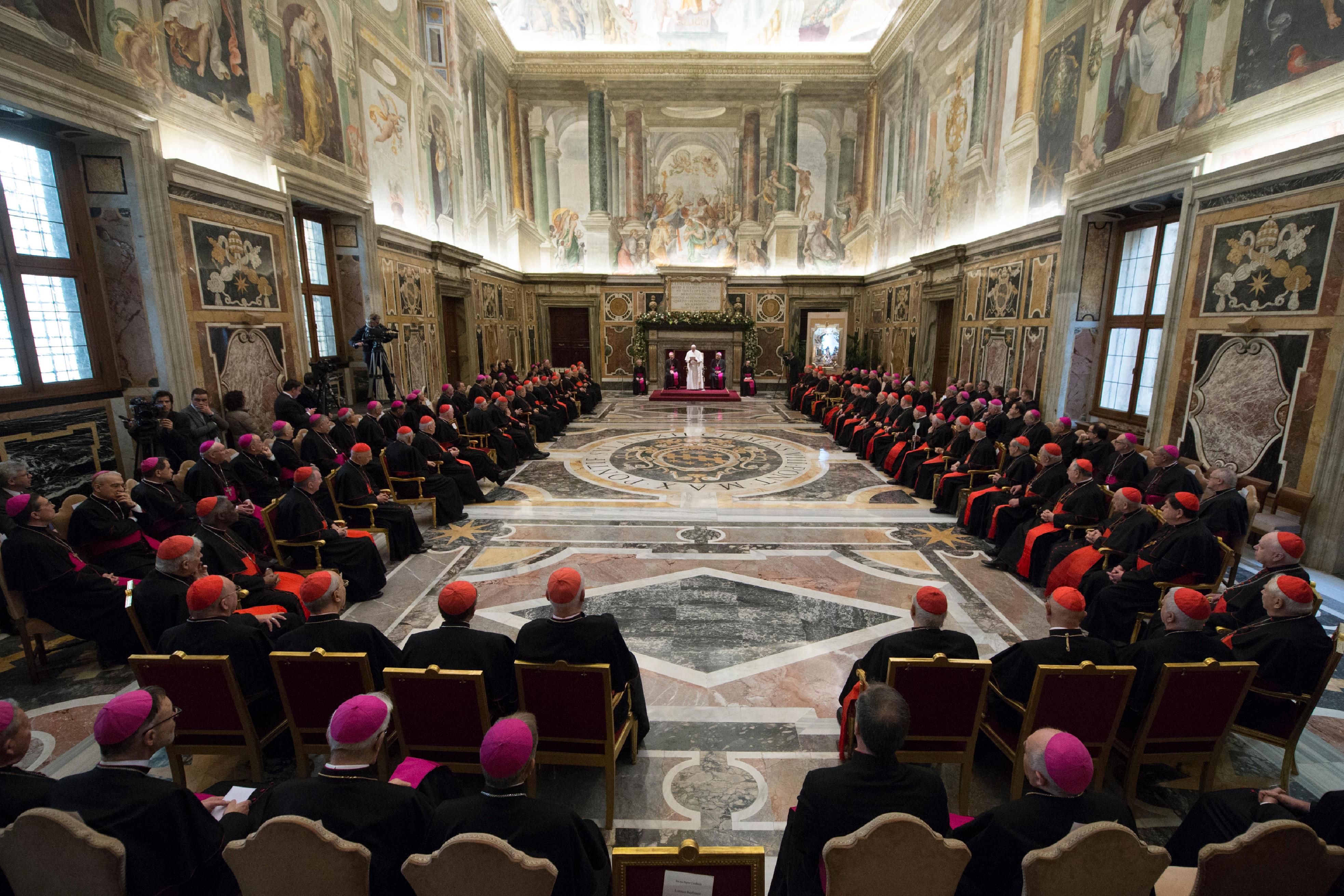 Voeux du pape à la curie © L'Osservatore Romano