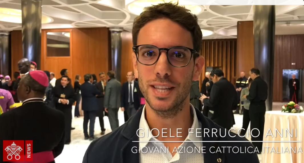 Gioele, jeune auditeur au Synode, capture Vatican News