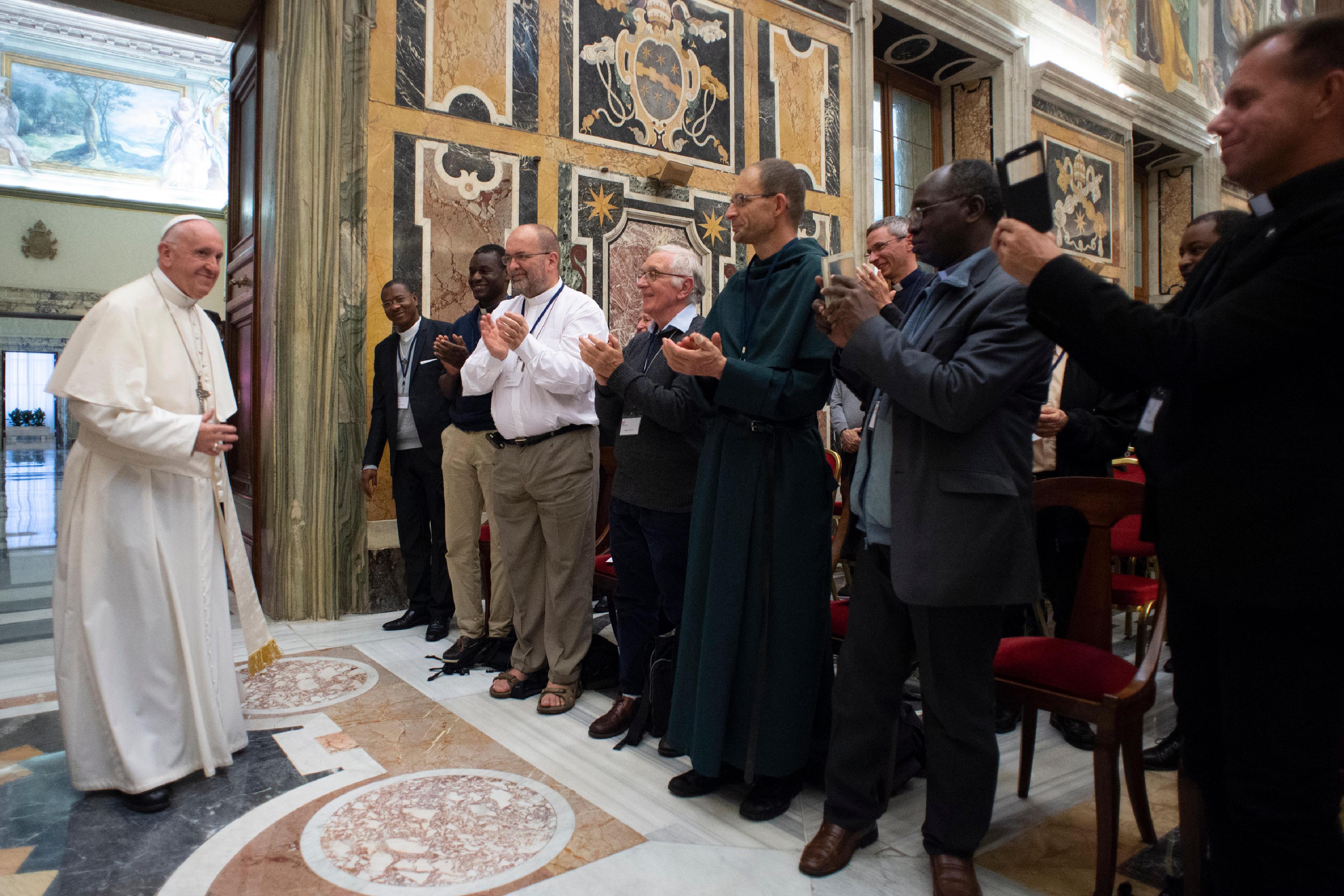 Prêtres du diocèse de Créteil, France © Vatican Media
