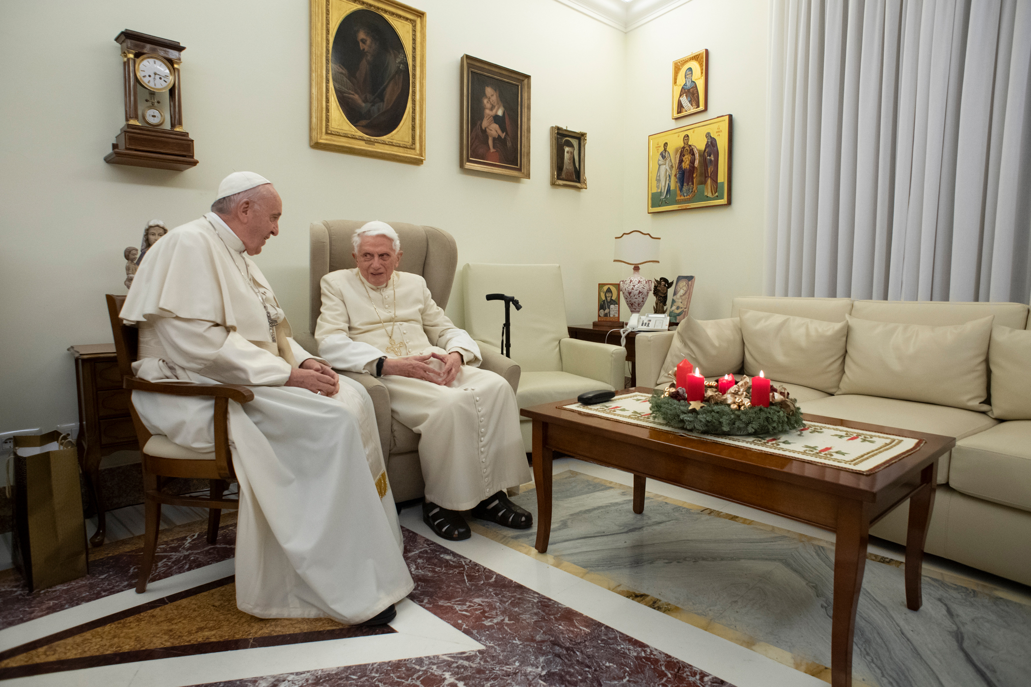 Visite à Benoît XVI, Noël 2018 © Vatican Media