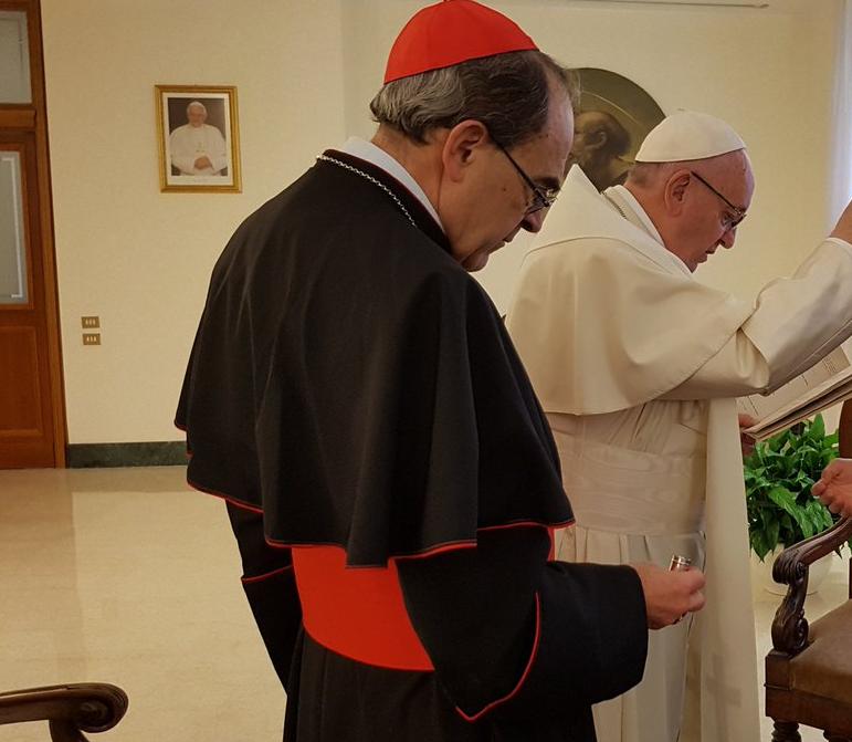 Le card. Barbarin au Vatican © Vatican Media