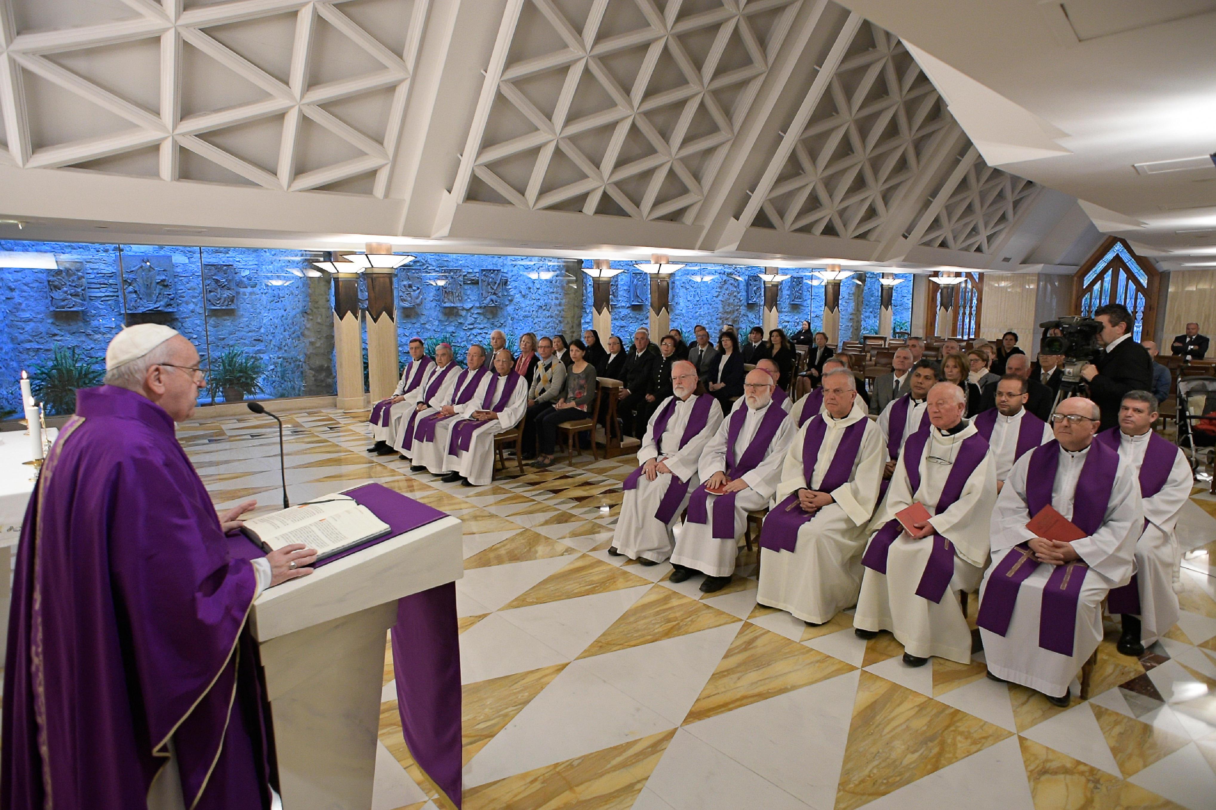 Sainte-Marthe, 9 avril 2019 © Vatican Media