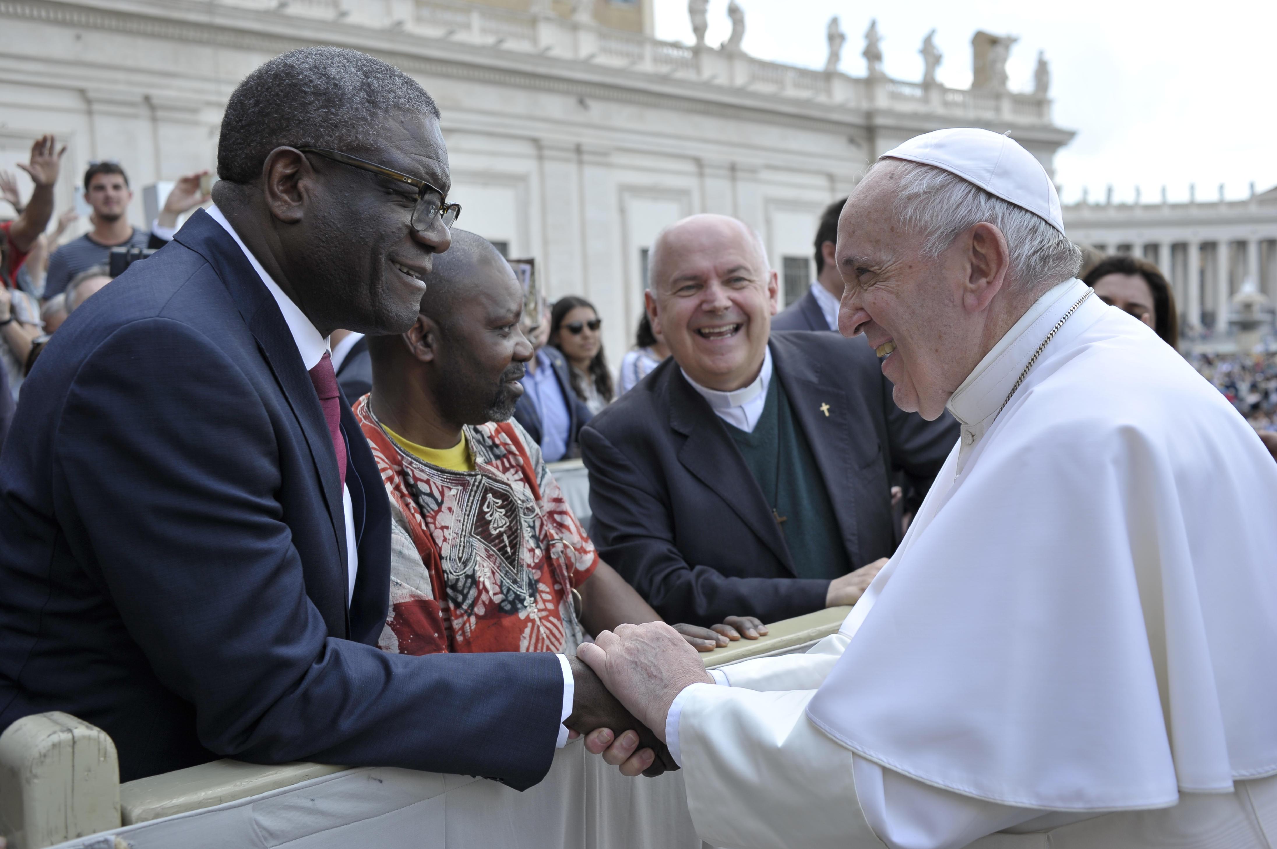 Denis Mukwege, Prix Nobel de la paix 2018 © Vatican Media