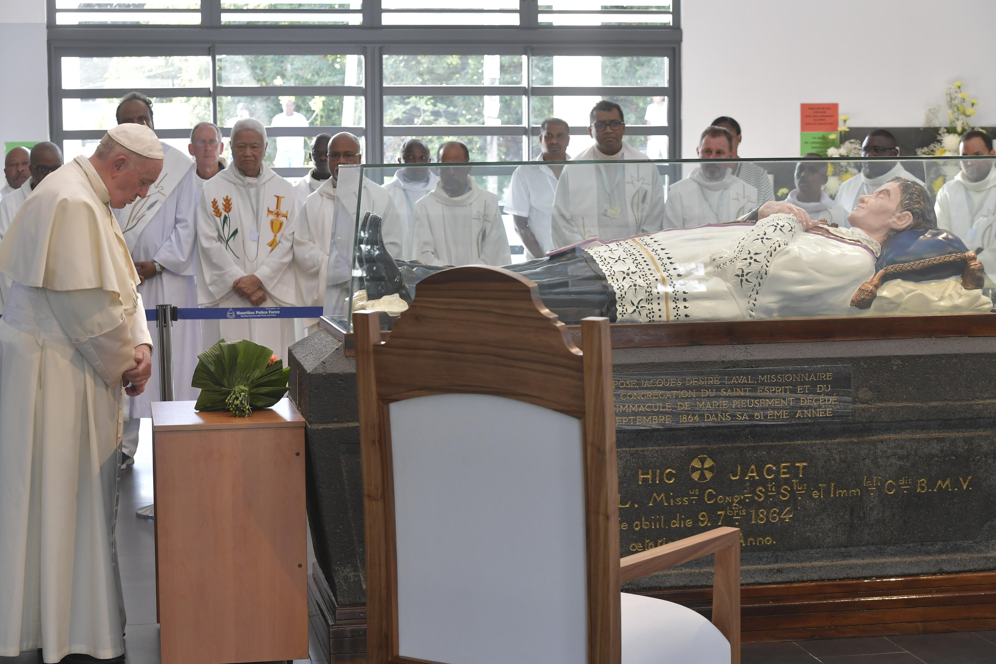 Pape François au sanctuaire du Père Laval, Maurice