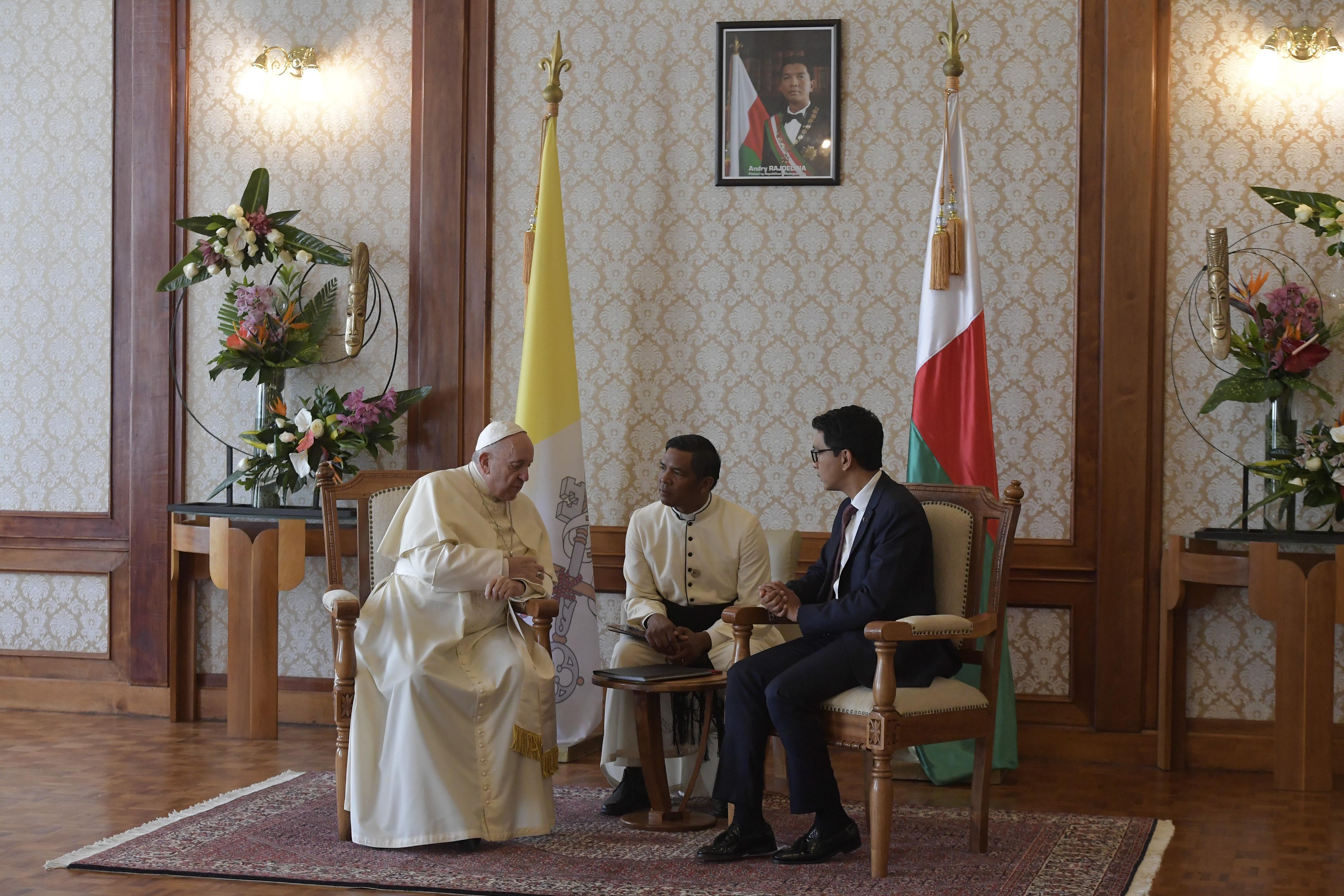 Andry Rajoelina, président de Madagascar © Vatican Media
