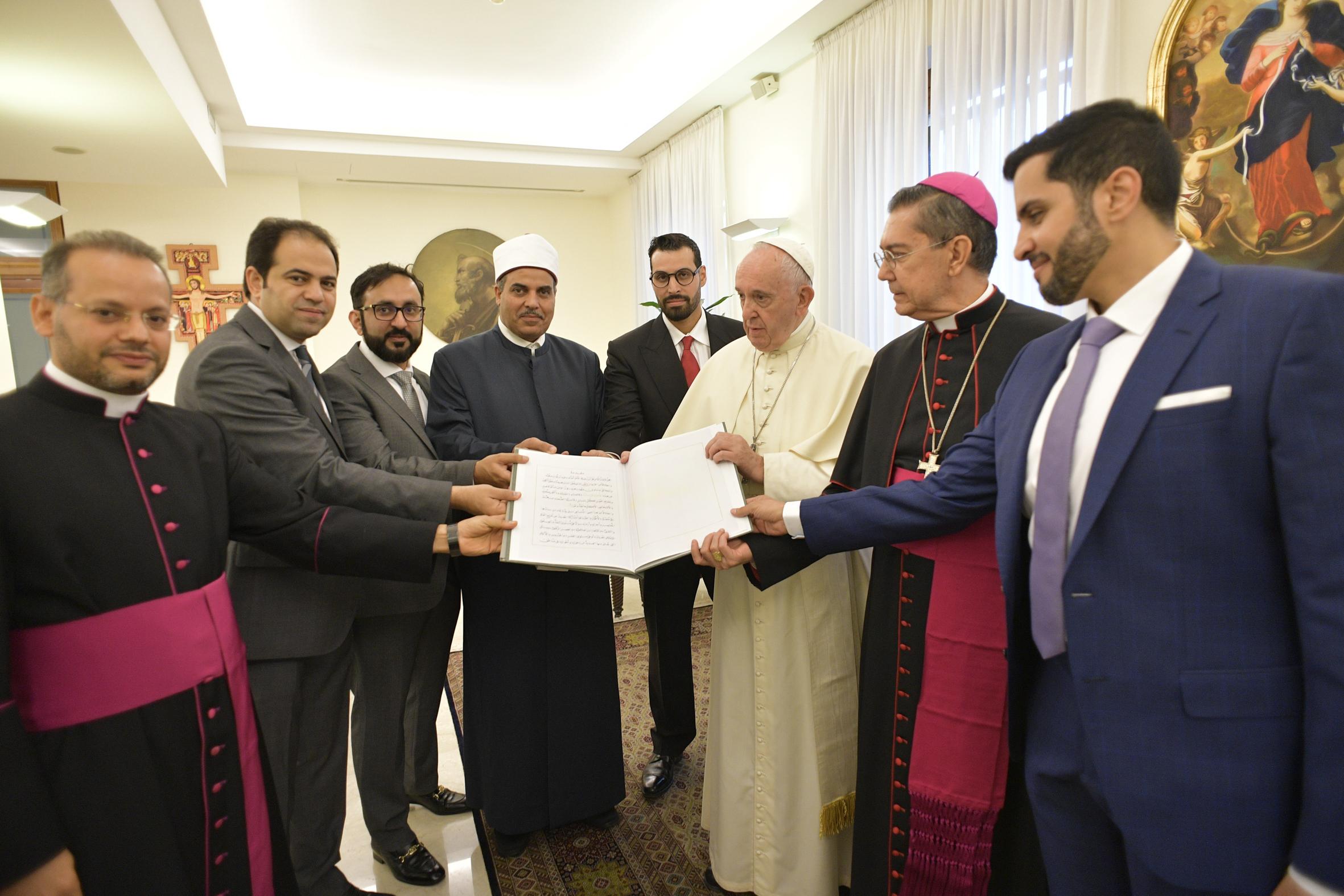 Comité pour le Document sur la Fraternité humaine © Vatican Media