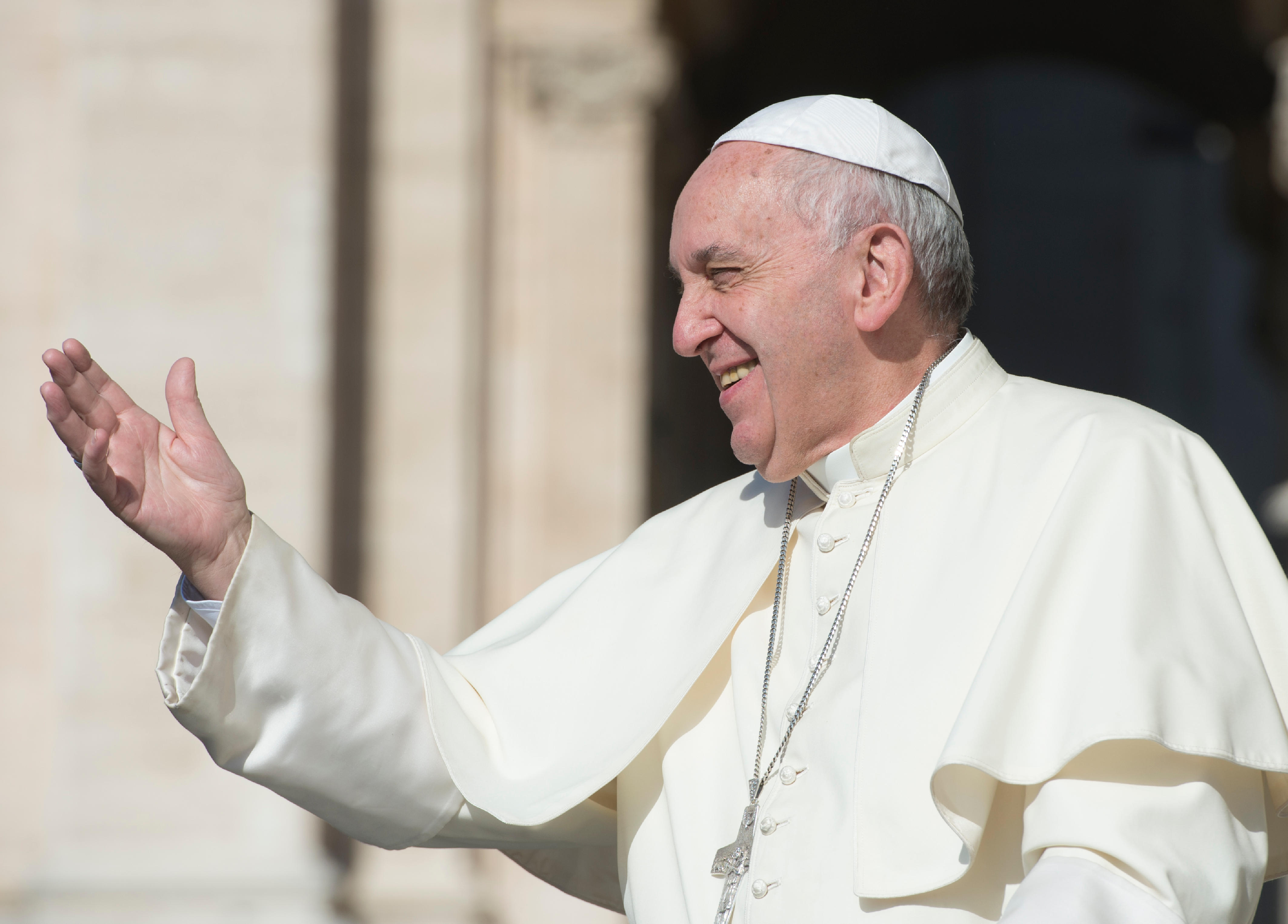 Le pape François au cours d'une audience générale