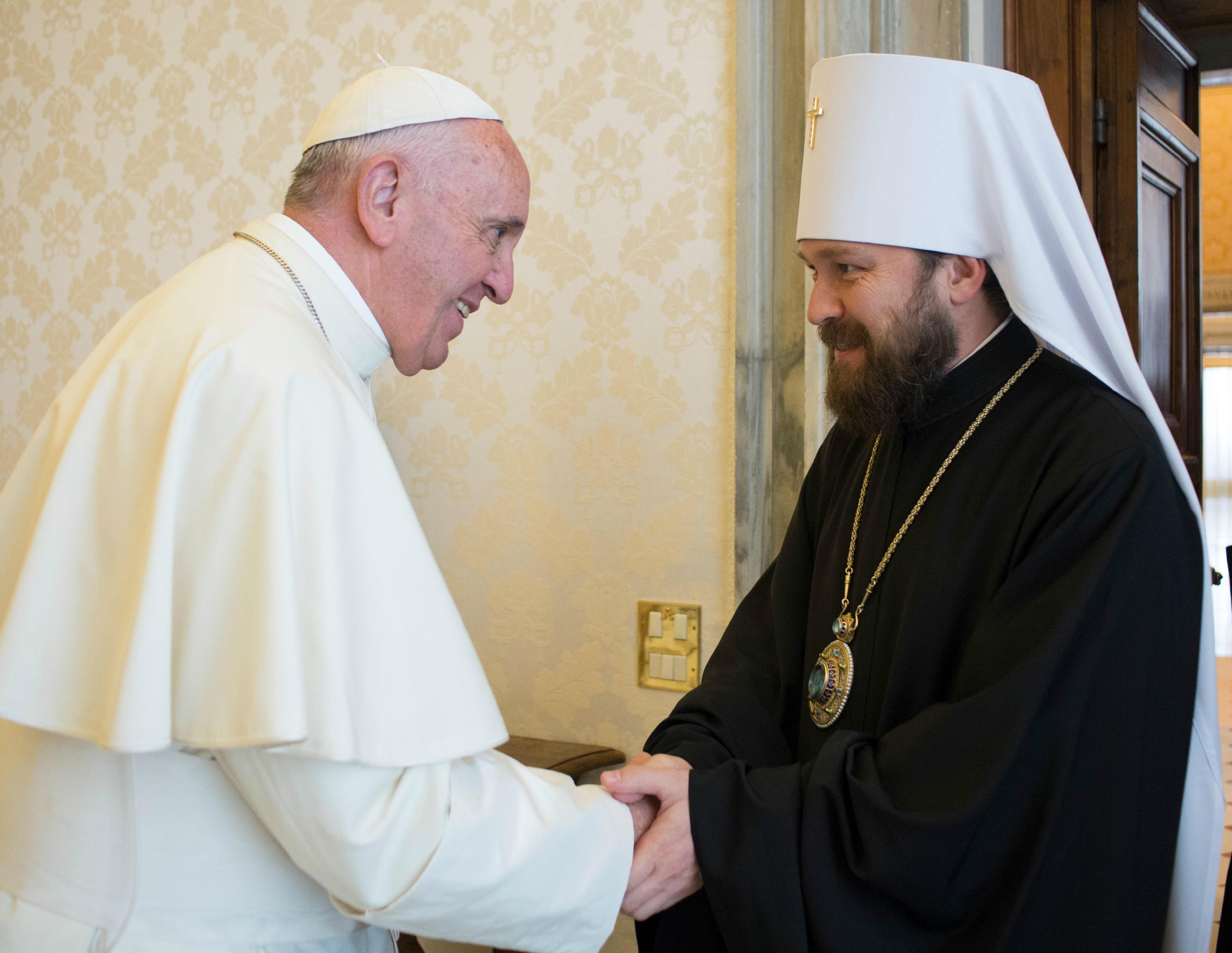 OR - Le pape François reçoit le métropolite Hilarion, président du département des relations extérieures du Patriarcat de Moscou