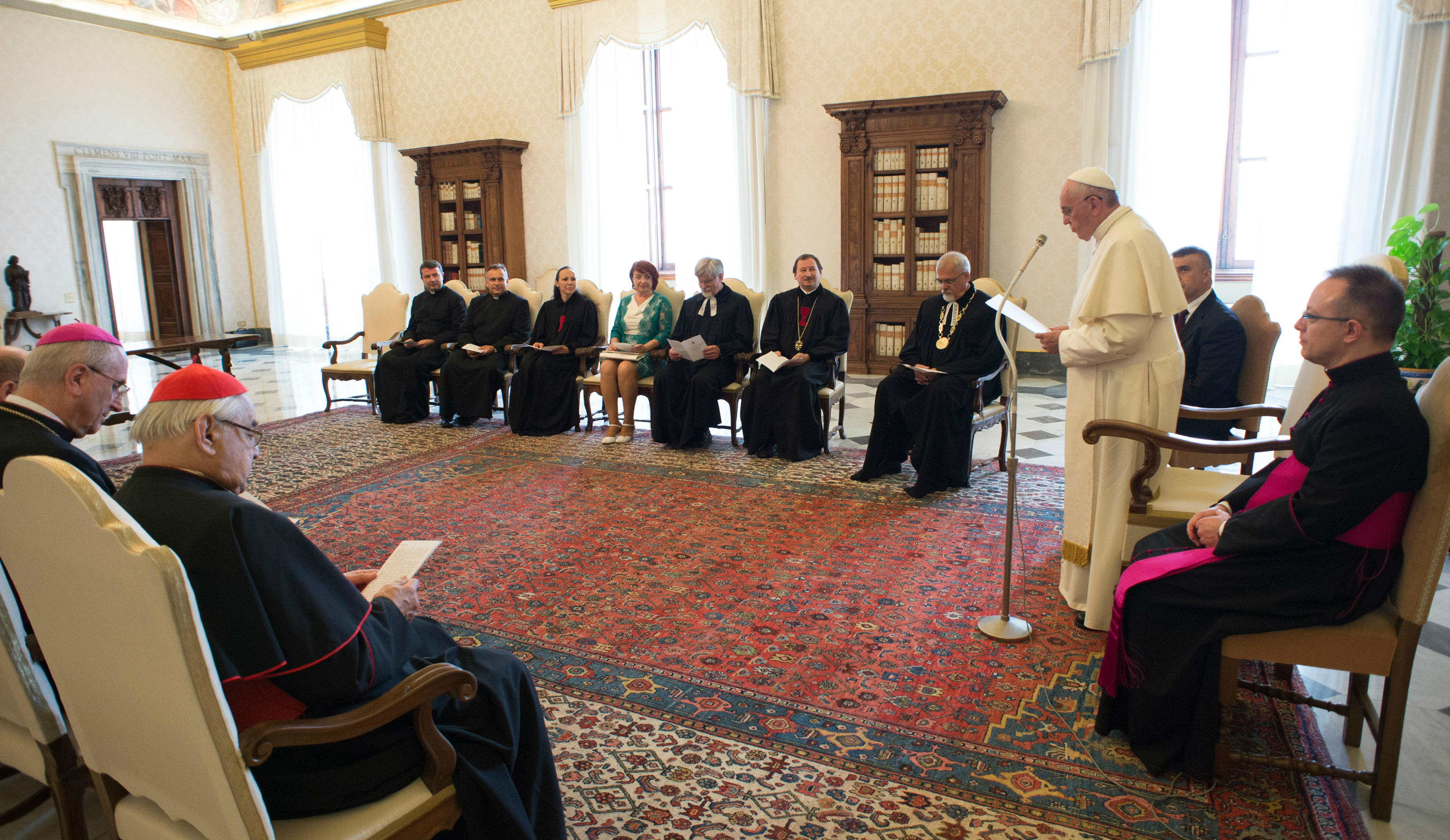 Pope meets with representatives of the Czechoslovak Hussite Church and the Evangelical Church of Czech Brethren