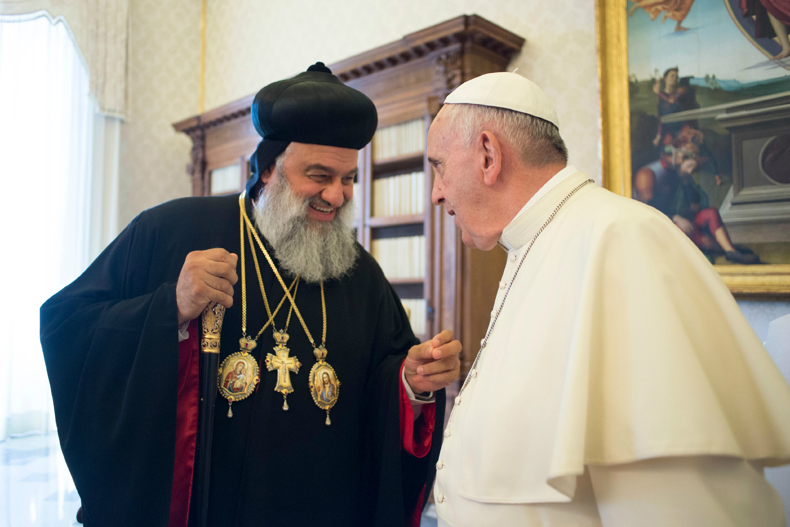 Pope Francis and His Holiness Mor Ignatius Aphrem II