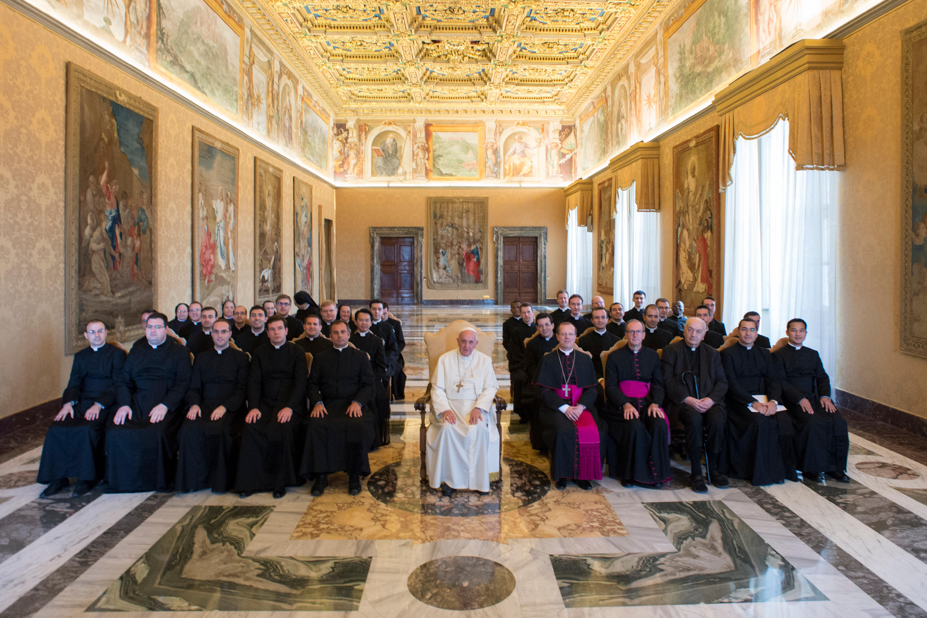 Pope Francis receives the Pontifical Ecclesiastical Academy