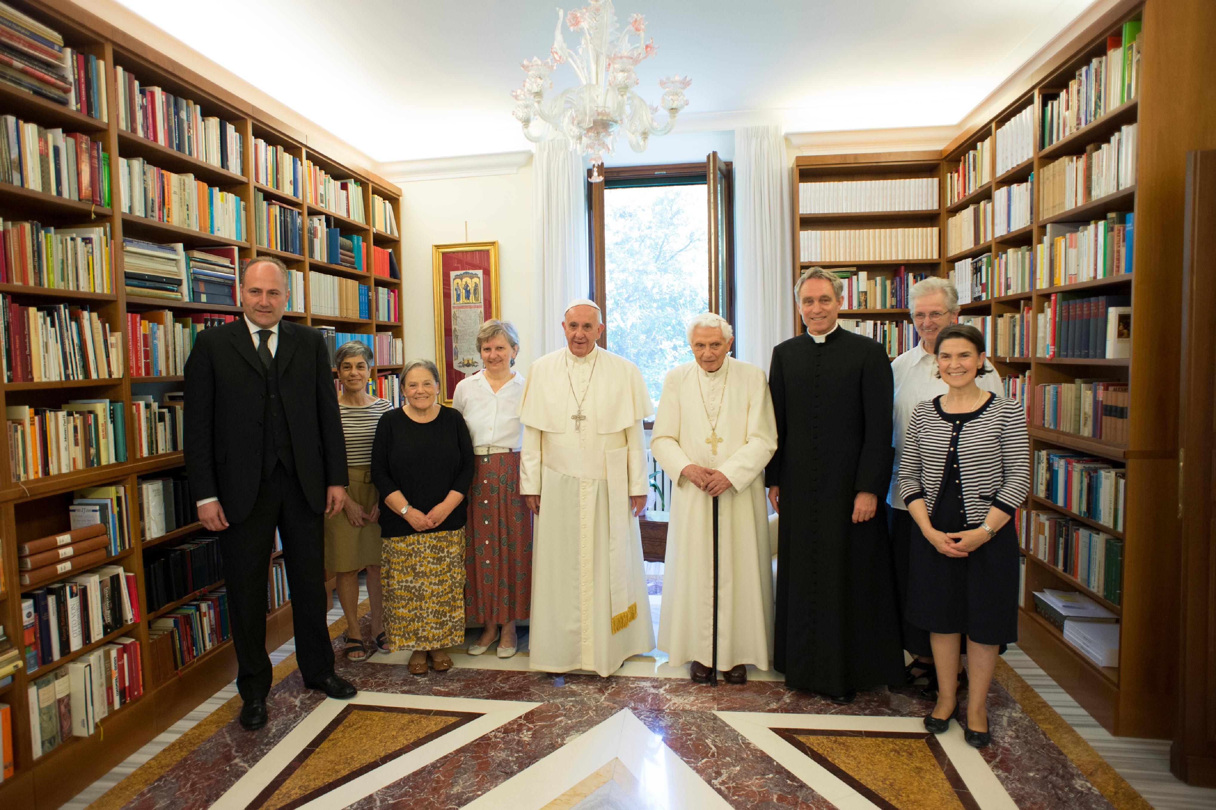 Pope Francis meets with Pope Emeritus Benedict XVI