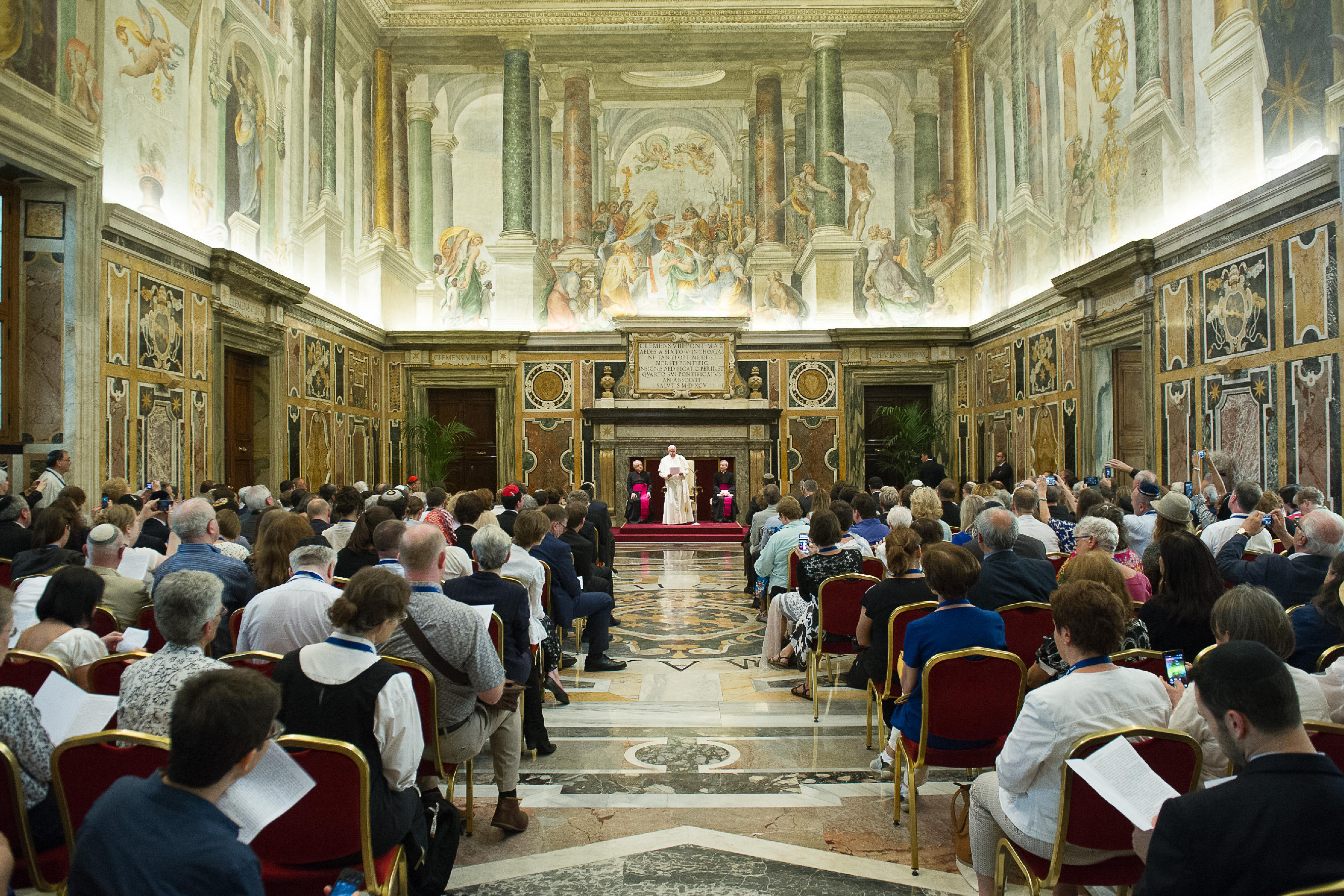 Pope Francis meets with members of the International Council of Christians and Jews