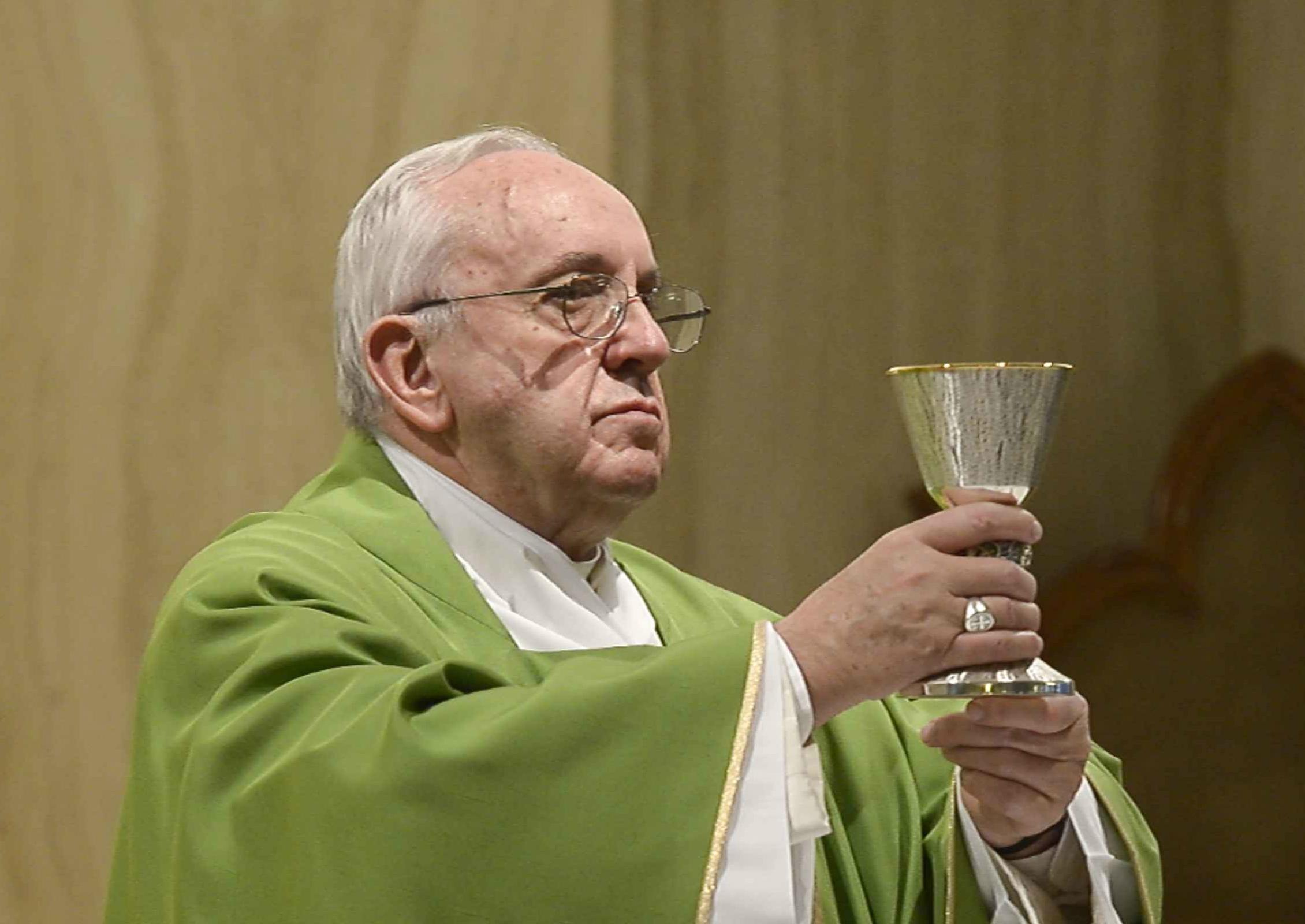 Pope Francis at Santa Marta