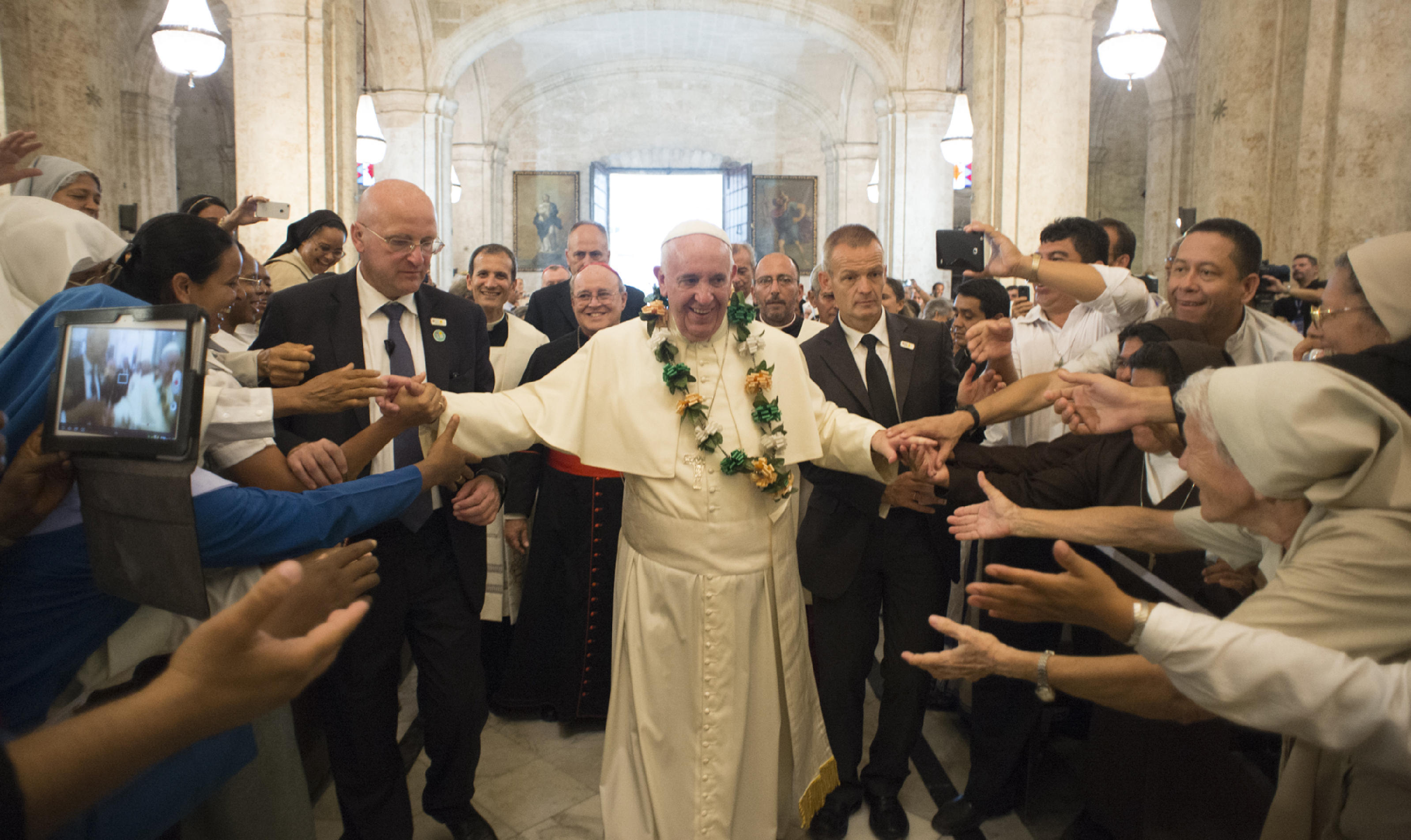Pope Francis' visit at the Havana Cathedral