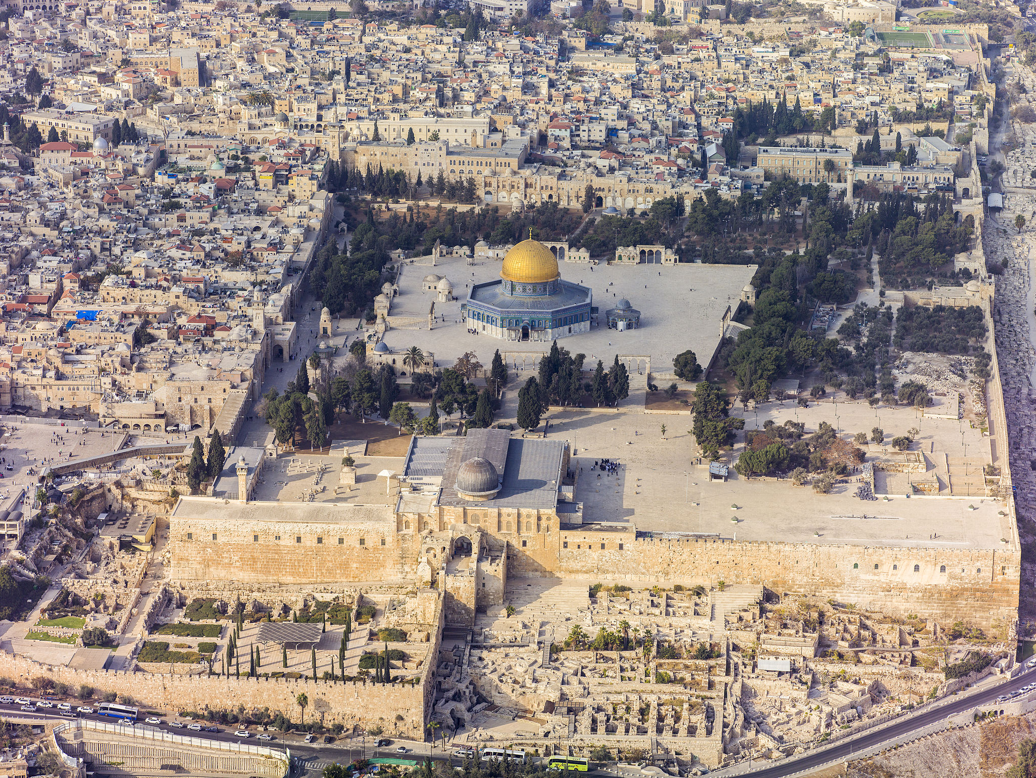 Mont du Temple, Jésusalem @ WIKIMEDIA COMMONS - Godot13