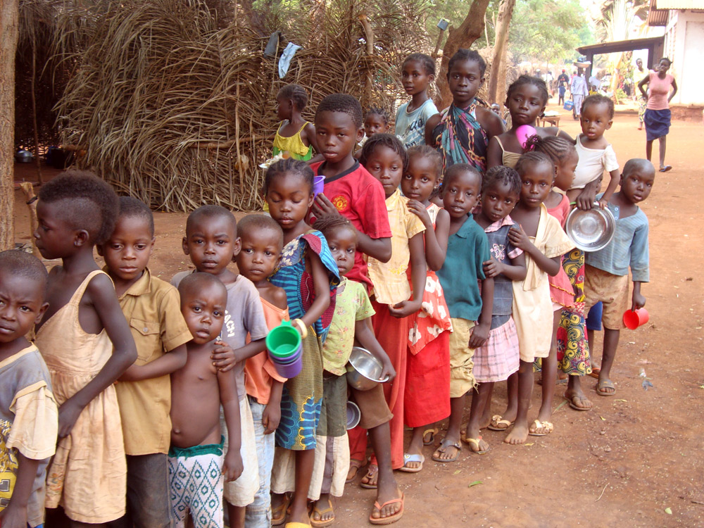 Un camp de réfugiés à Bangui (Centrafrique) @ ACN - Aid to the Church in Need
