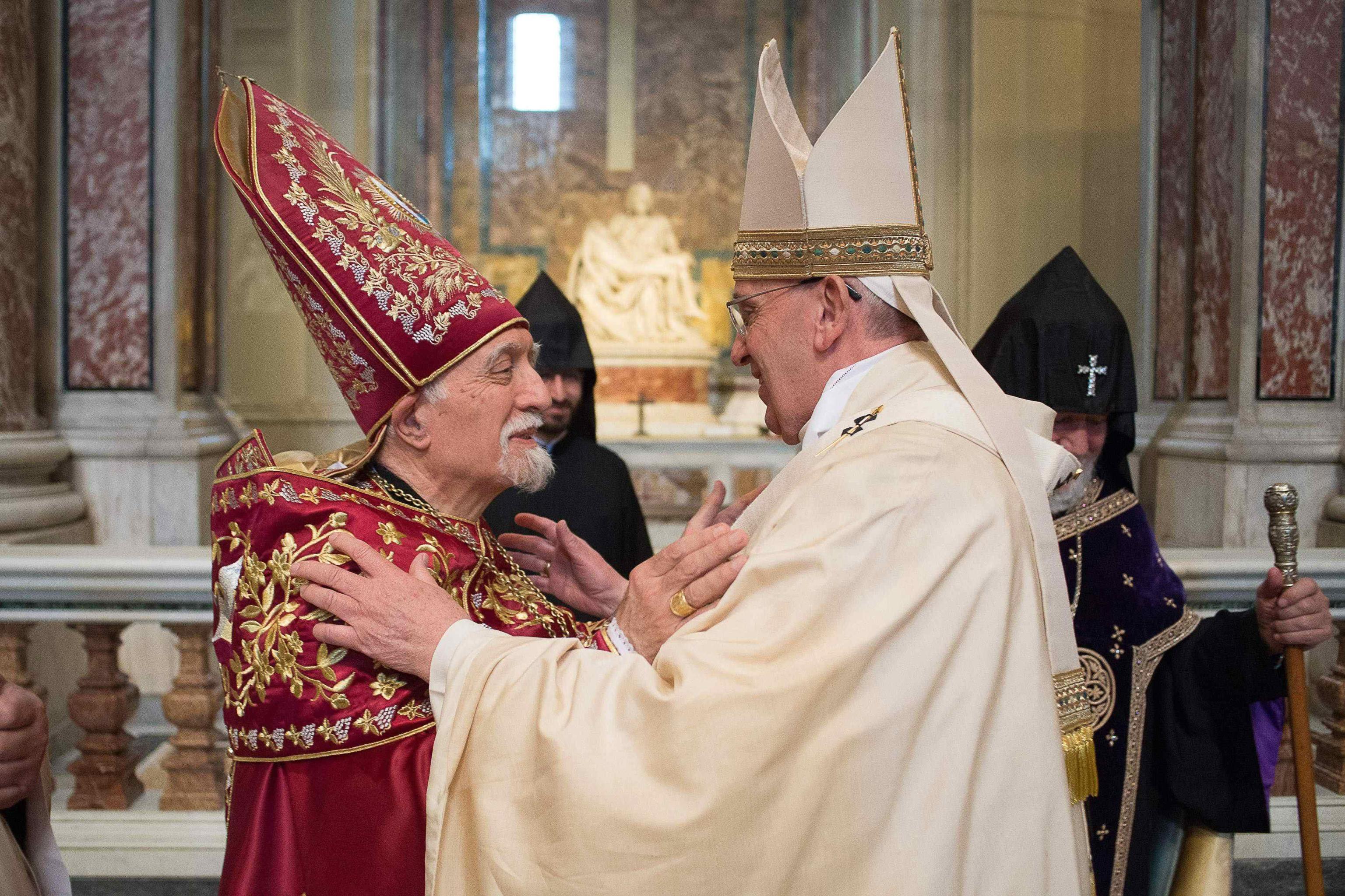 Pope Francis and Nerses Bedros XIX Tarmouni