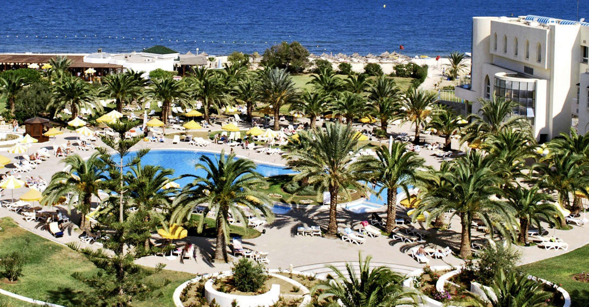An undated handout released by German travel and tourism group TUI of a view over the RIU Hotel Imperial Marhaba