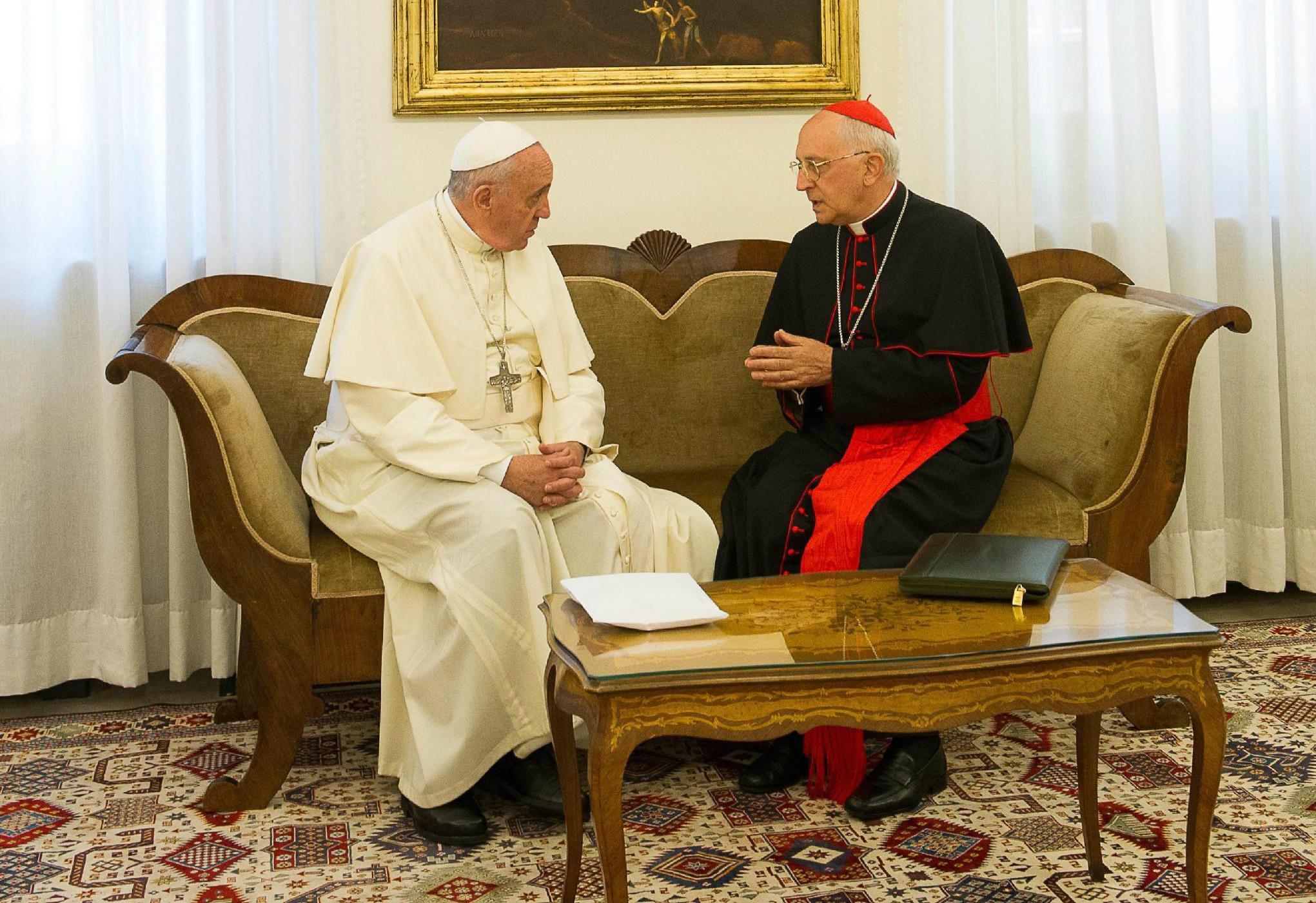Le pape François et le cardinal Filoni © L'Osservatore Romano