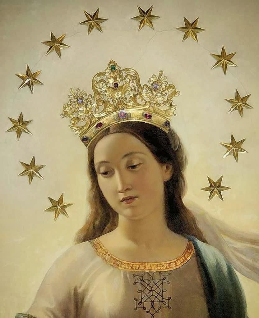 Tableau de la Vierge Marie, couronnée @ église Sant'Andrea delle Fratte, Rome, lieu de l'apparition de 1842