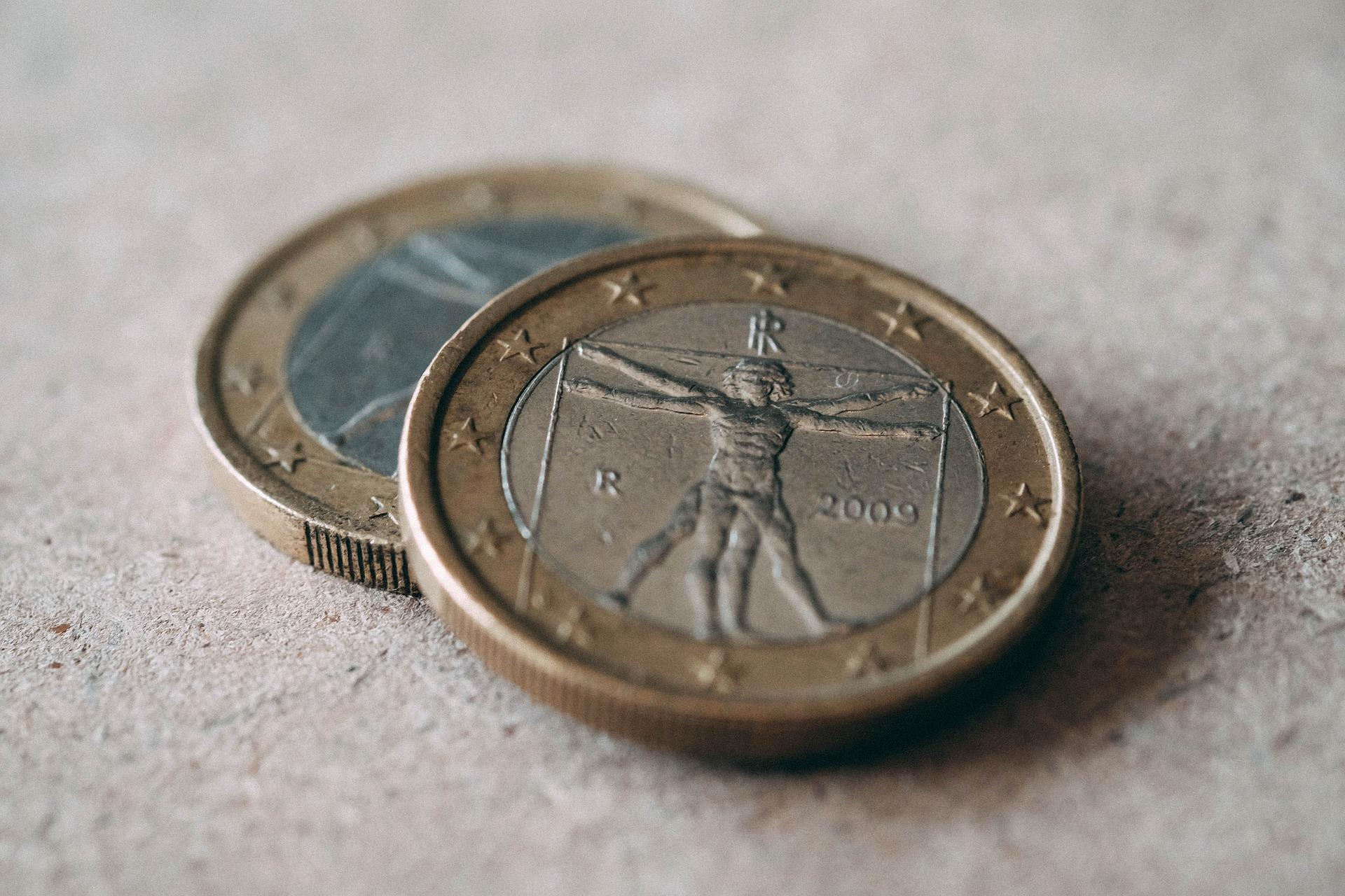 Pièces d'euros d'Italie @Pixabay CC0 - fancycrave1
