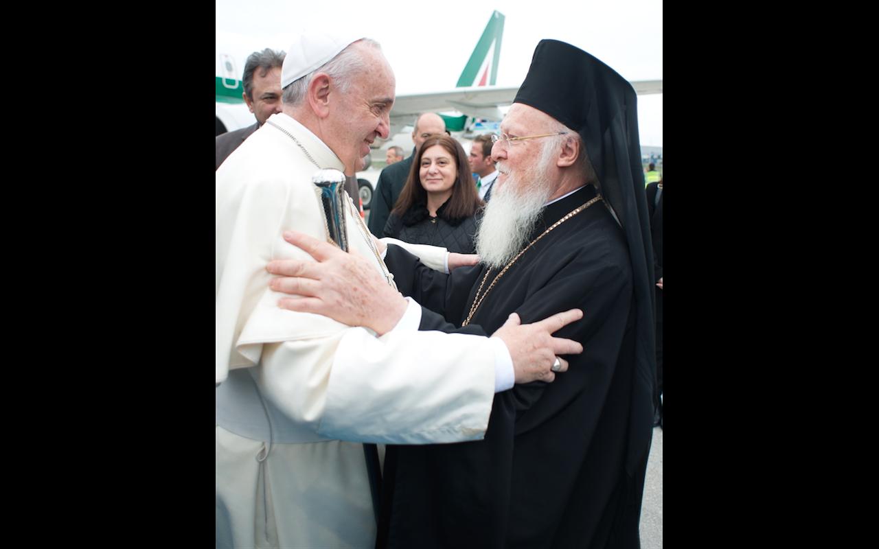 Le pape et le patriarche Bartholomée © L'Osservatore Romano
