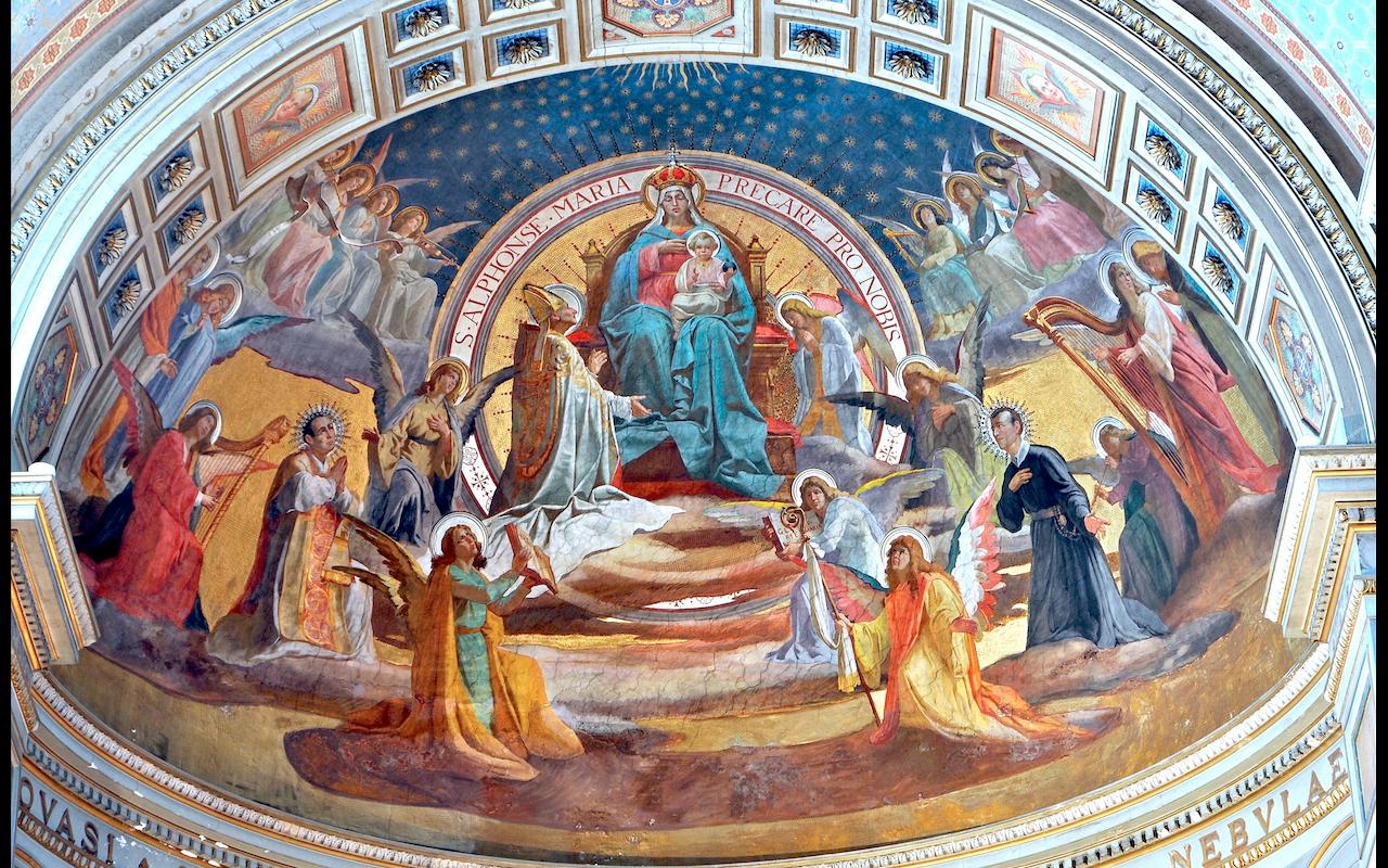 Les saints au Paradis (s. Alphonse de Liguori), église San Gioacchino in Prati © ZENIT - HSM