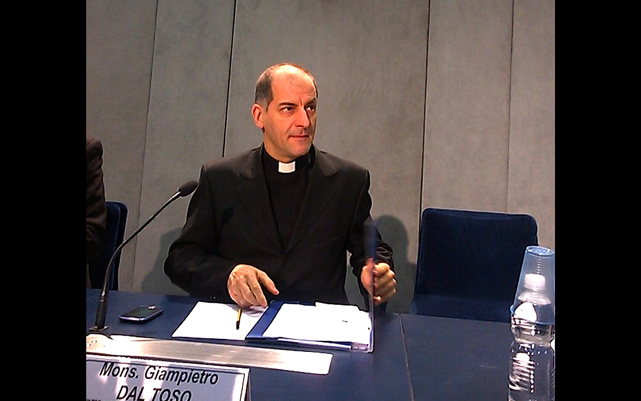 """Mgr Giampietro dal Toso - secretary of the Pontifical Council """"Cor unum"""" since his appointment by Pope Benedict XVI"""