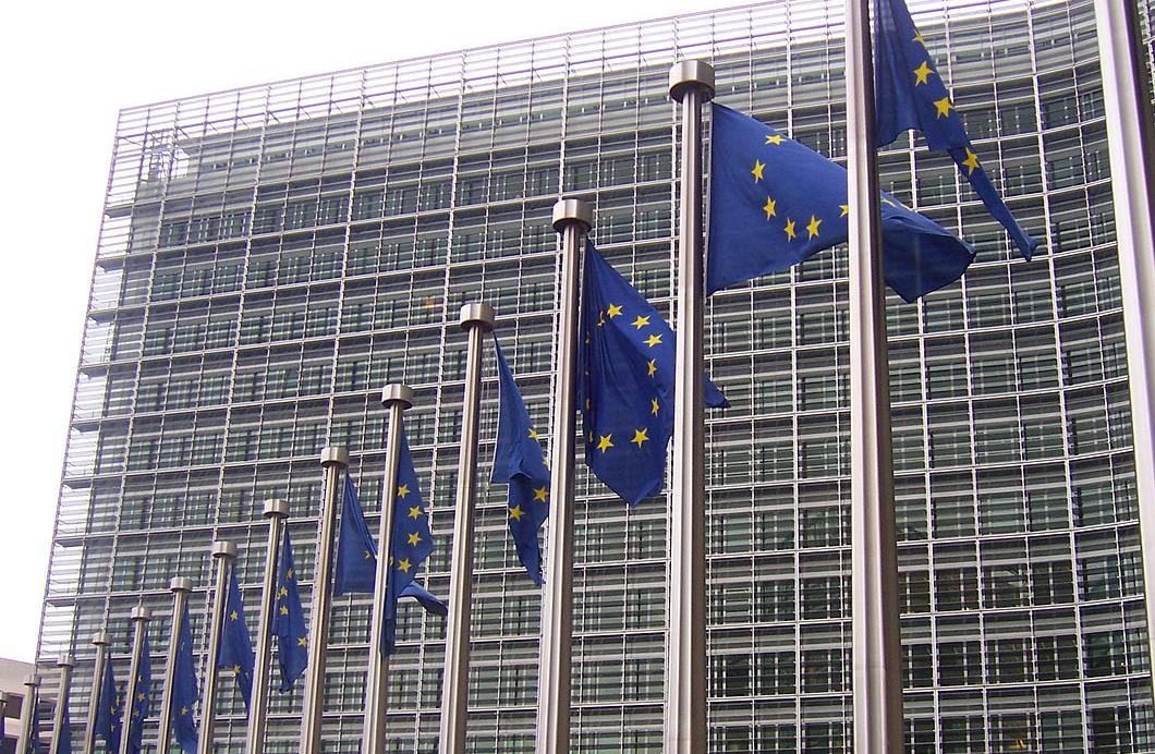 Drapeaux européens devant le Berlaymont (Bruxelles, Belgique) @ WIKIMEDIA COMMONS - Amio Cajander