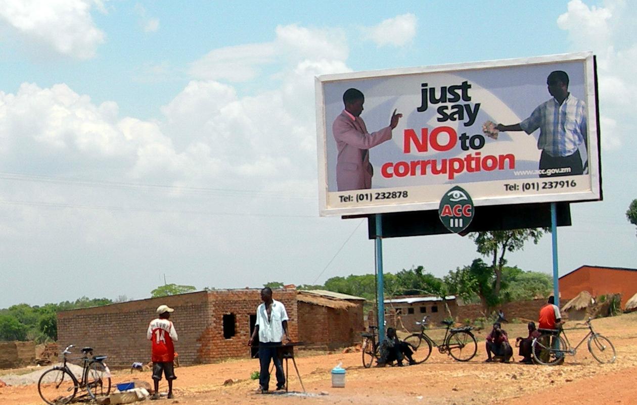 Campagne contre la corruption en Zambie © Wikimedia commons