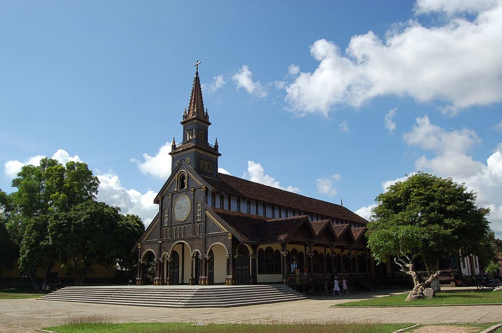 Kontum's French-built Catholic Wooden Cathedral