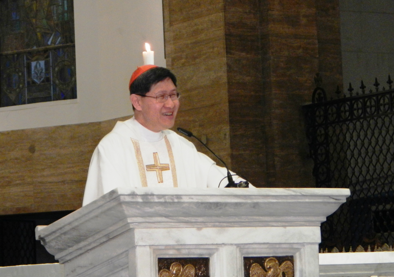 Cardinal Luis Antonio Tagle in Manila Cathedral