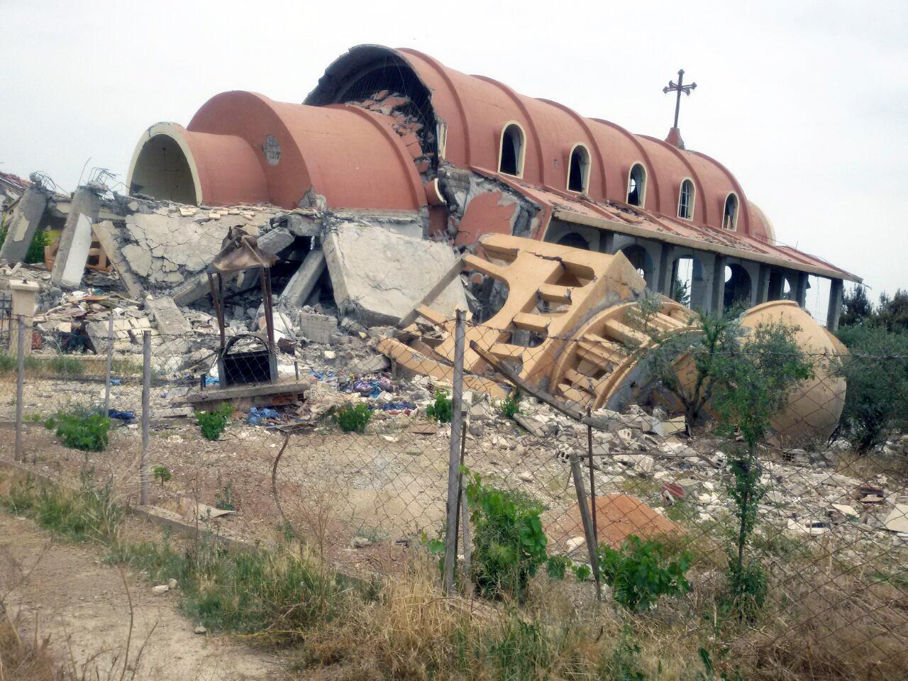 Destruction d'une église en Syrie © ACS