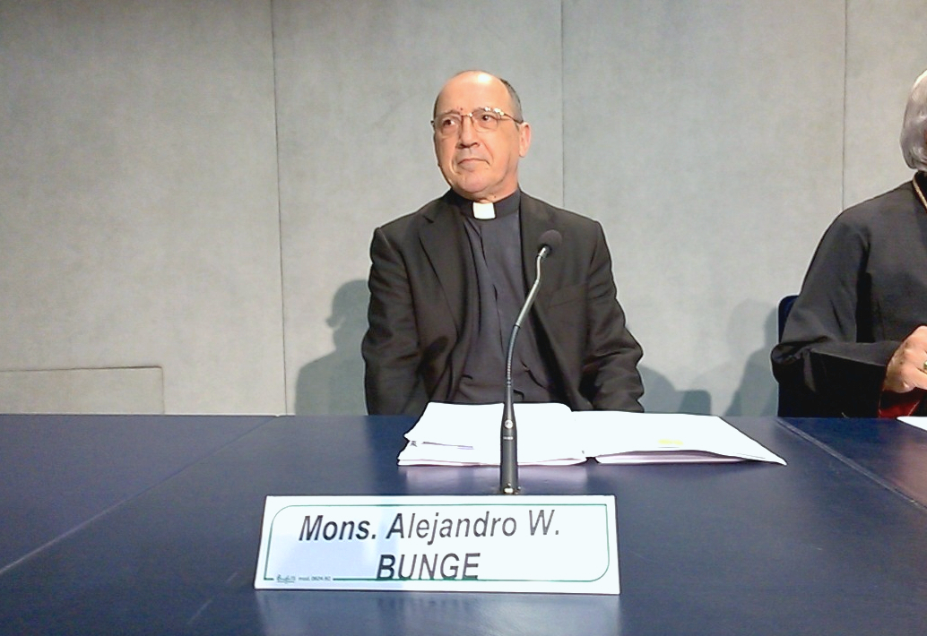 Mons. Alejandro W Bunge in the presentation of motu proprio about nullity of wedding