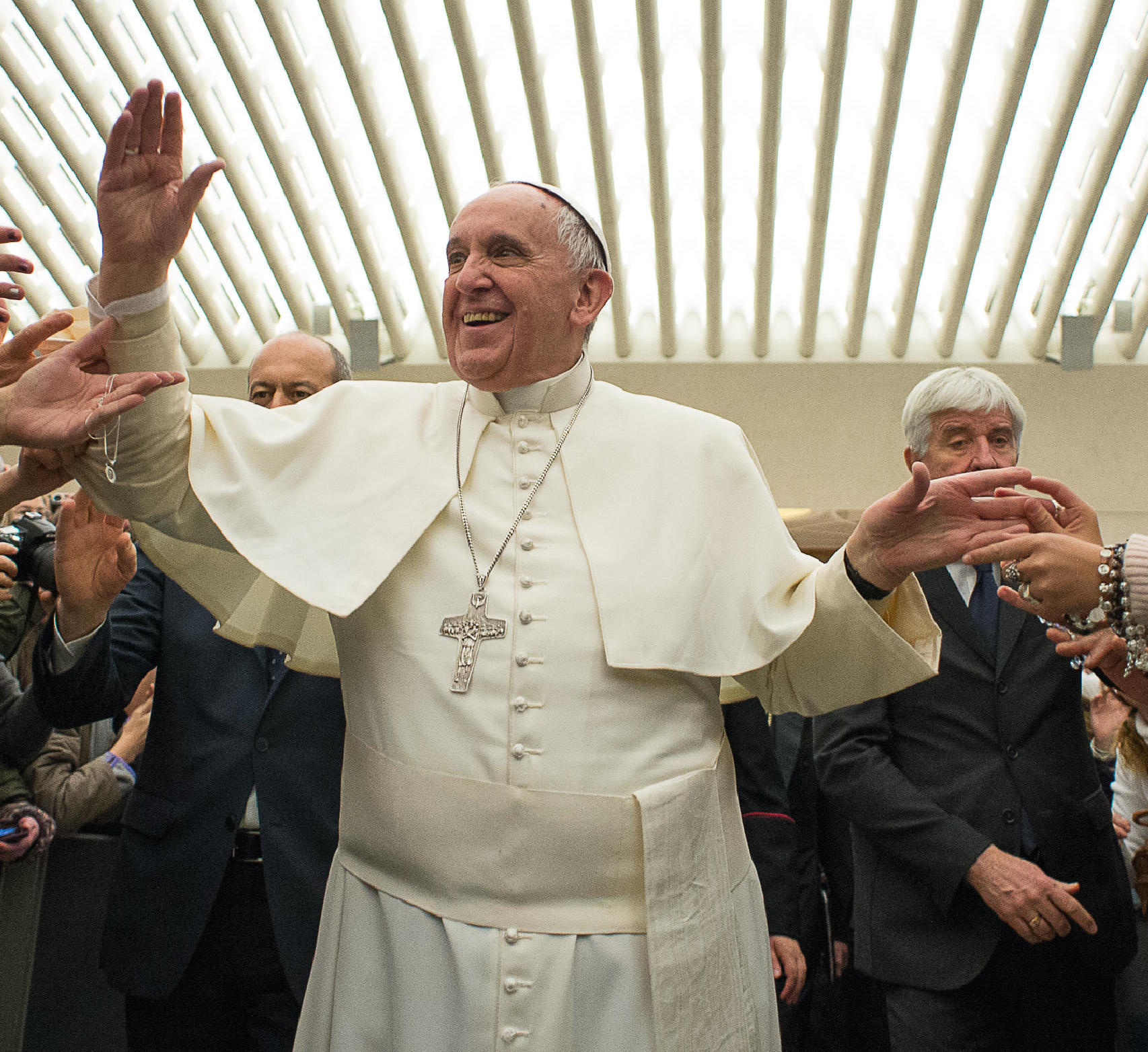 Pope Francis in Paul VI Room (archive)