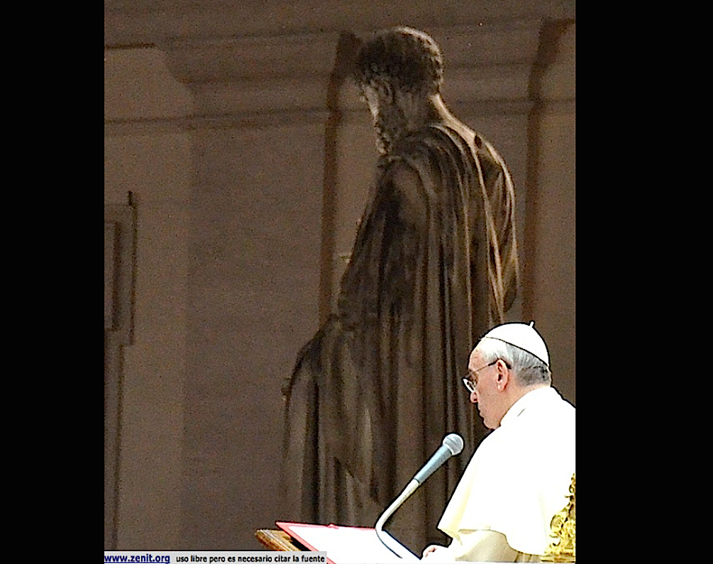 Pope Francis at vigil for peace in Siria 2013 September 29