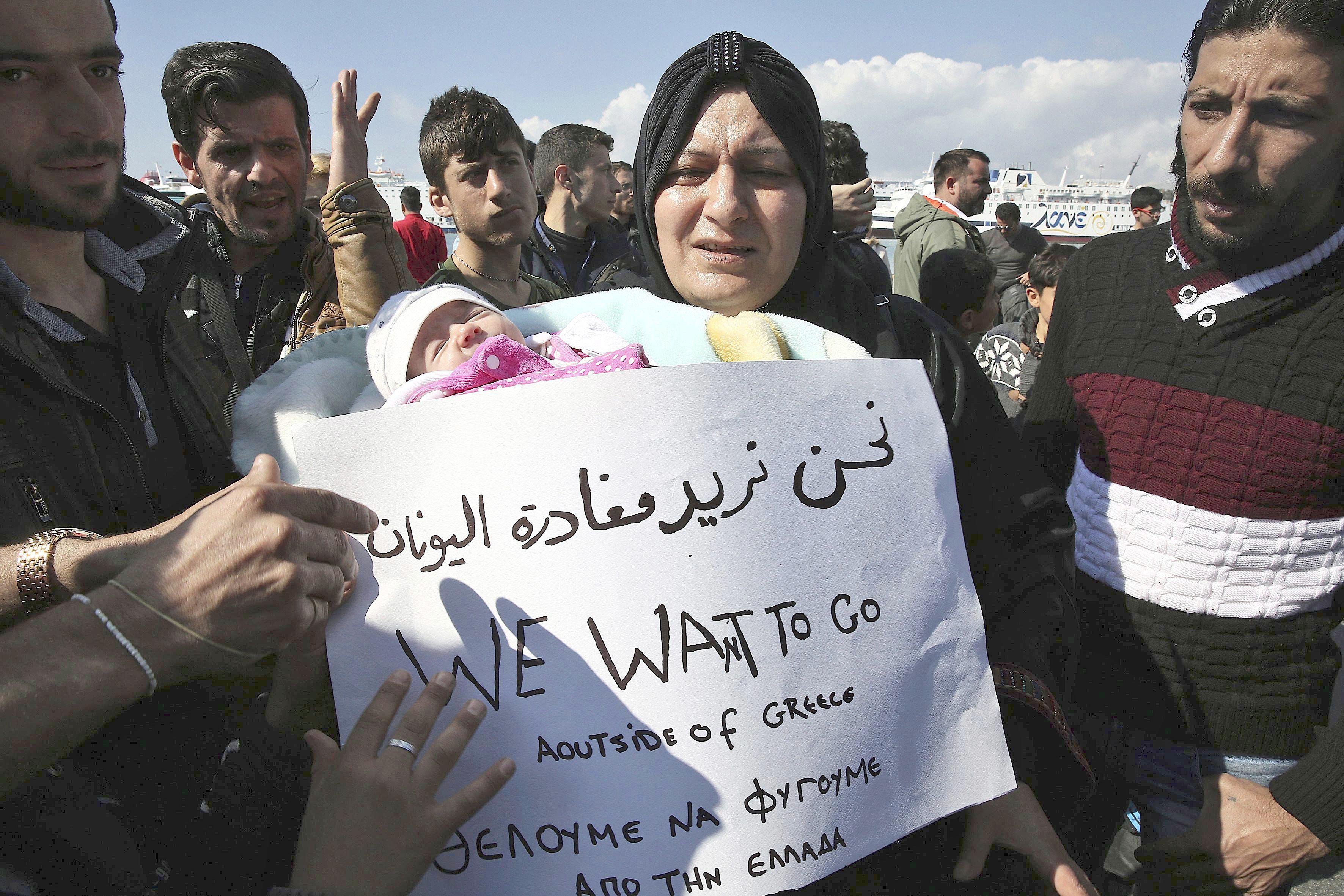 Situation de réfugiés syriens en Grèce, à Athènes, Photo TELAM