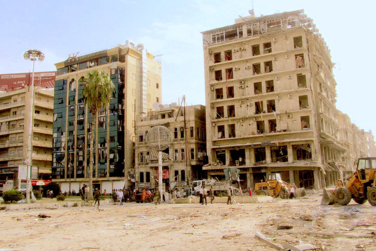 Saadallah_après_l'explosion, Alep (Syrie) Wikimedia commons