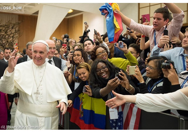 Audience aux jeunes de la Harvard World Model United Nations, L'Osservatore Romano